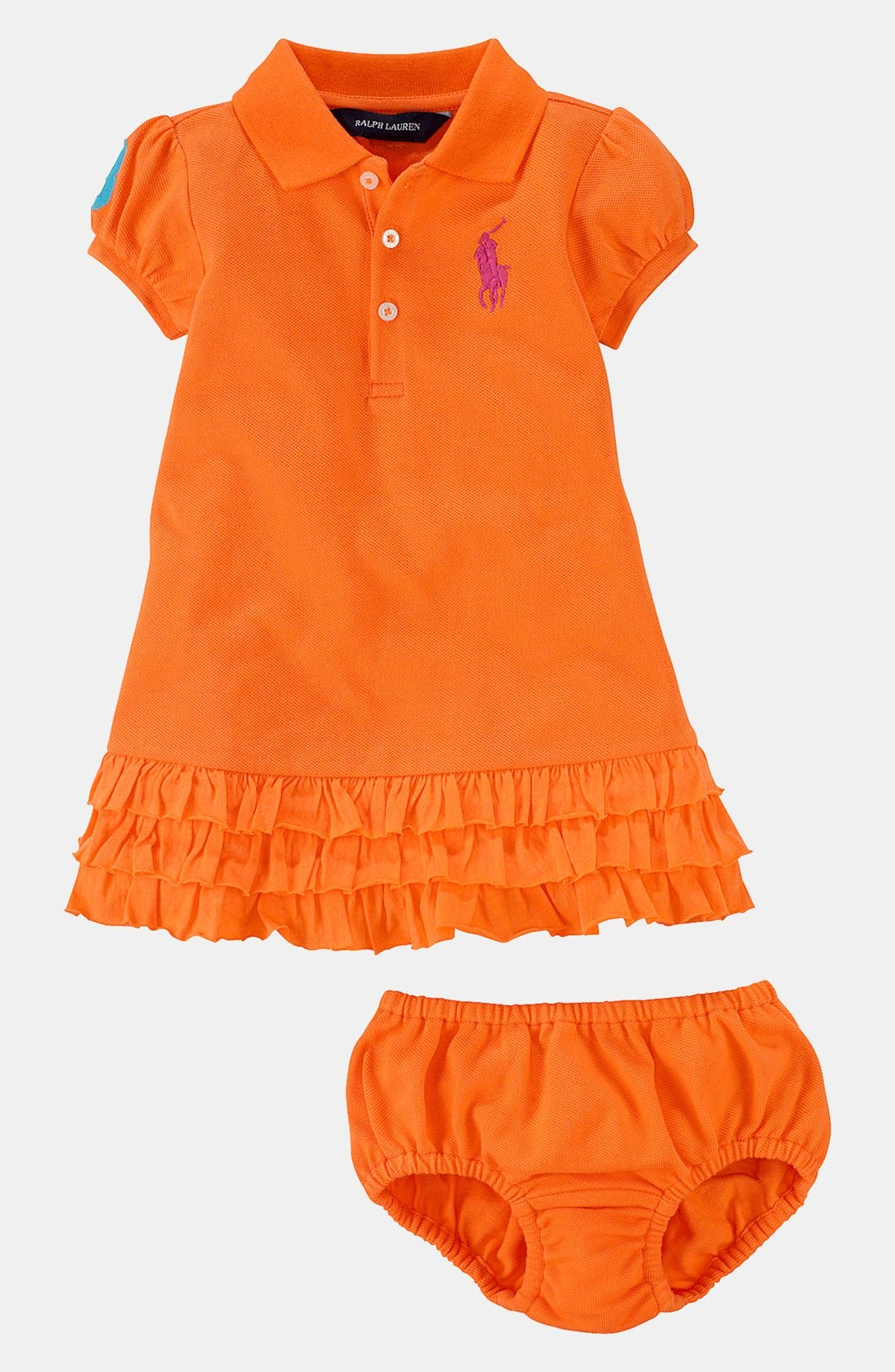 Alternate Image 2  - Ralph Lauren Polo Dress & Bloomers (Baby)