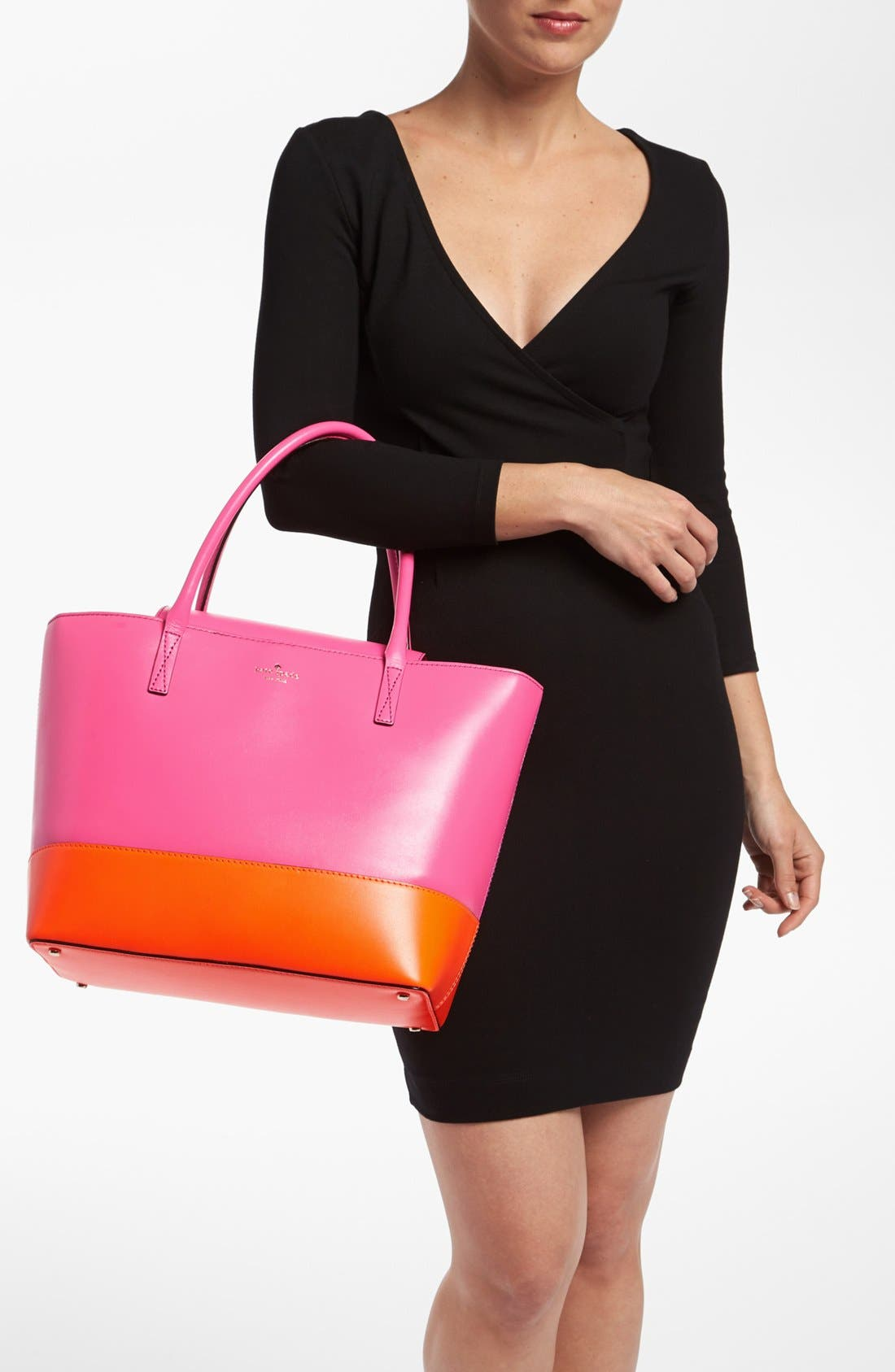 Alternate Image 2  - kate spade new york 'madison park - small coal' leather tote