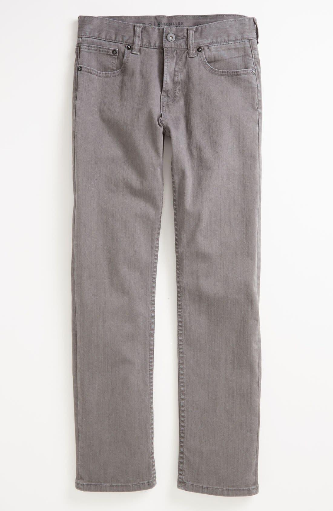Alternate Image 2  - Quiksilver 'Distortion' Slim Straight Leg Jeans (Big Boys)