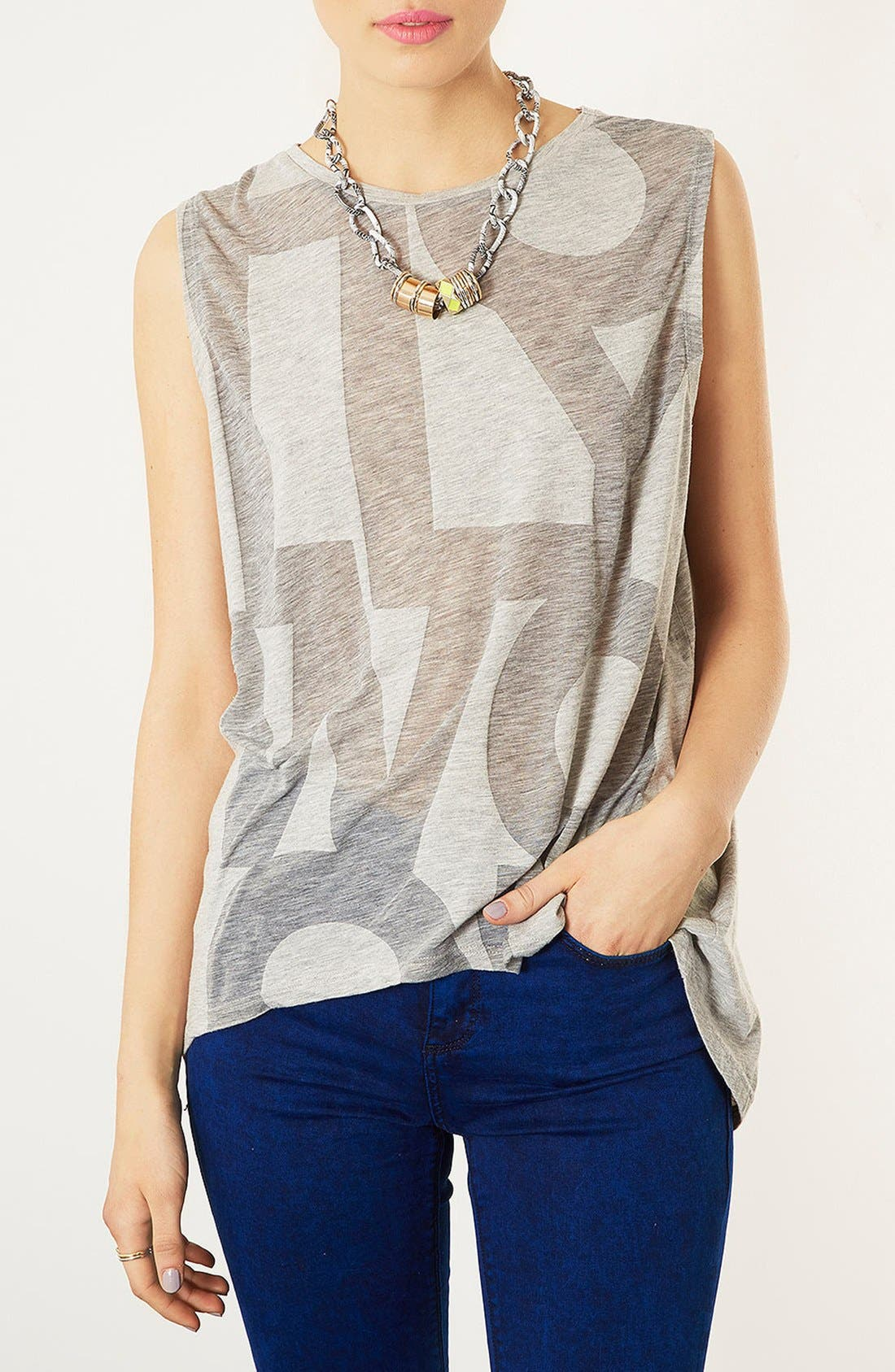 Alternate Image 1 Selected - Topshop 'Hollywood' Burnout Tank
