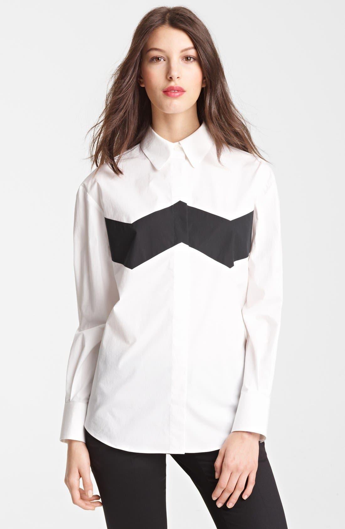 Alternate Image 1 Selected - Burberry Prorsum Chevron Detail Shirt