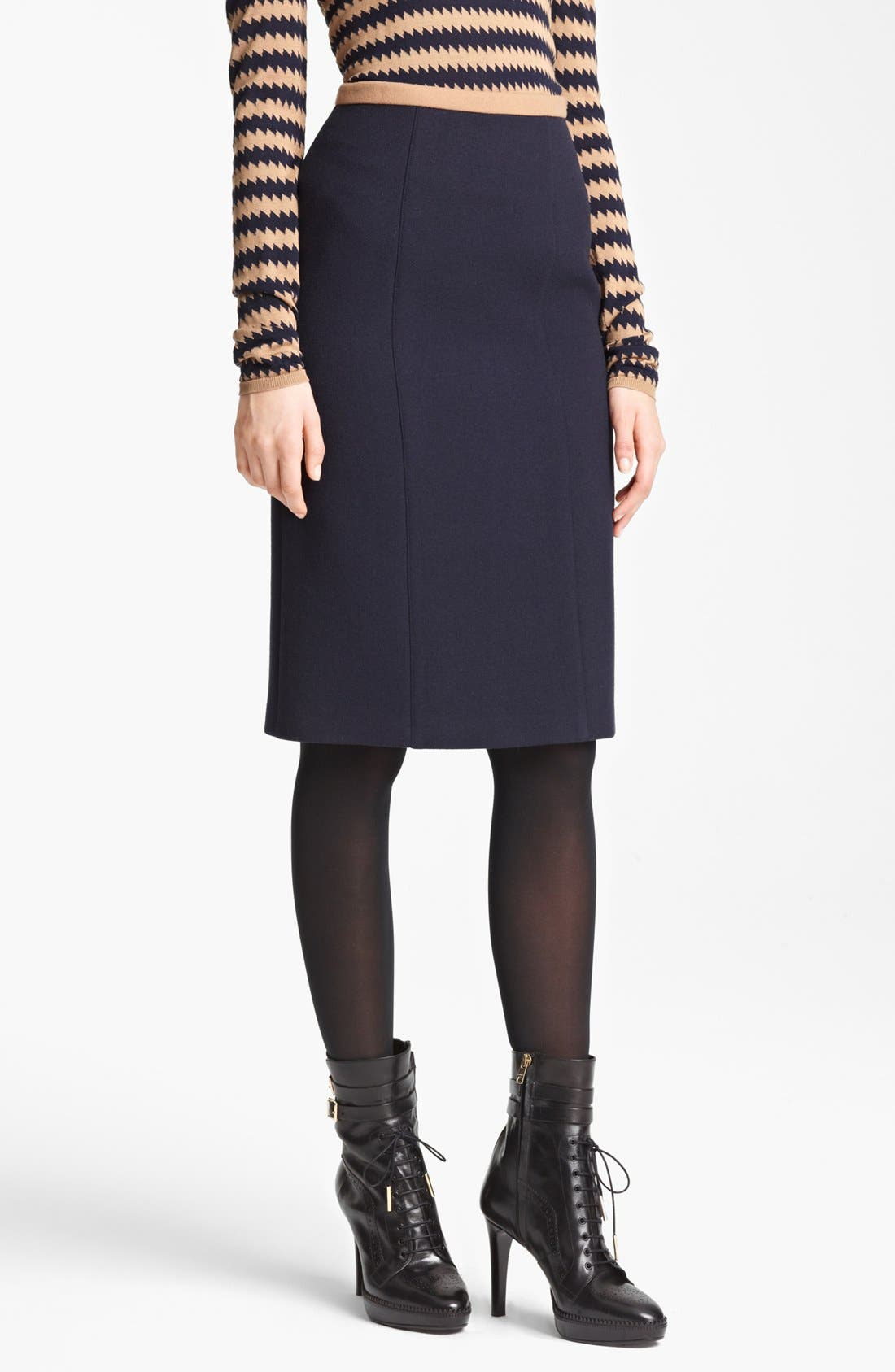 Main Image - Burberry Prorsum Contrast Waist Skirt