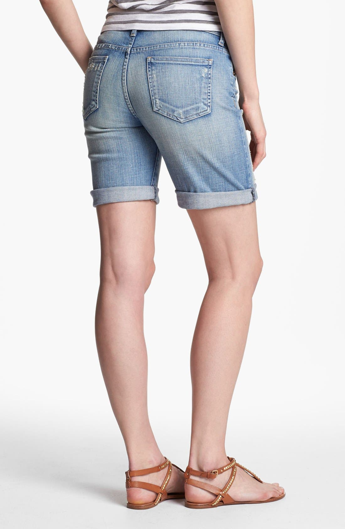 Alternate Image 2  - KUT from the Kloth Boyfriend Denim Shorts