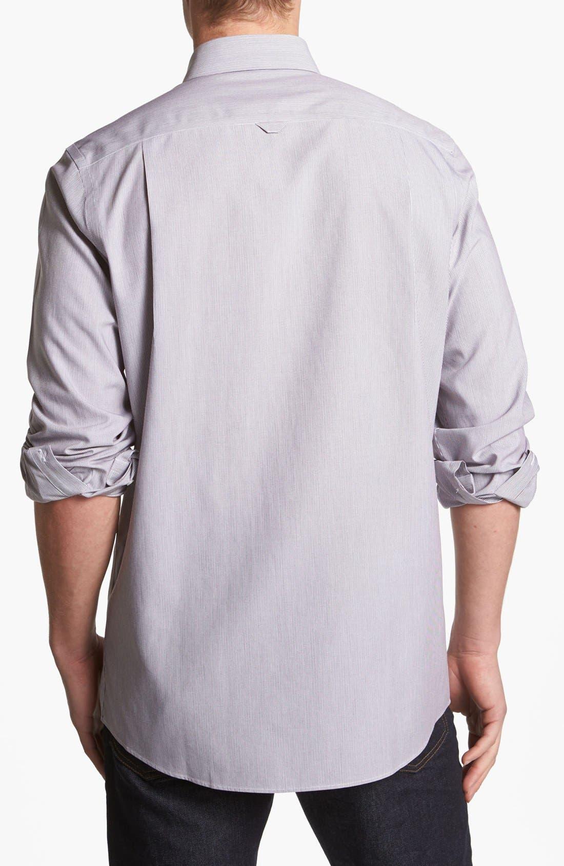 Alternate Image 2  - Nordstrom Smartcare™ Striped Poplin Sport Shirt