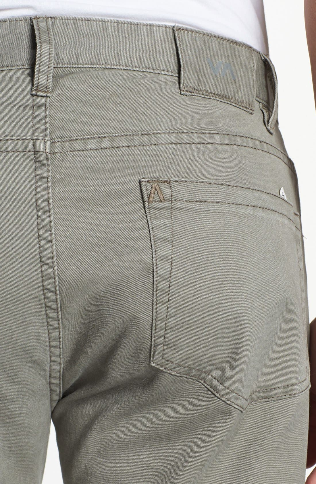 Alternate Image 3  - RVCA 'Stay' Slim Fit Pants