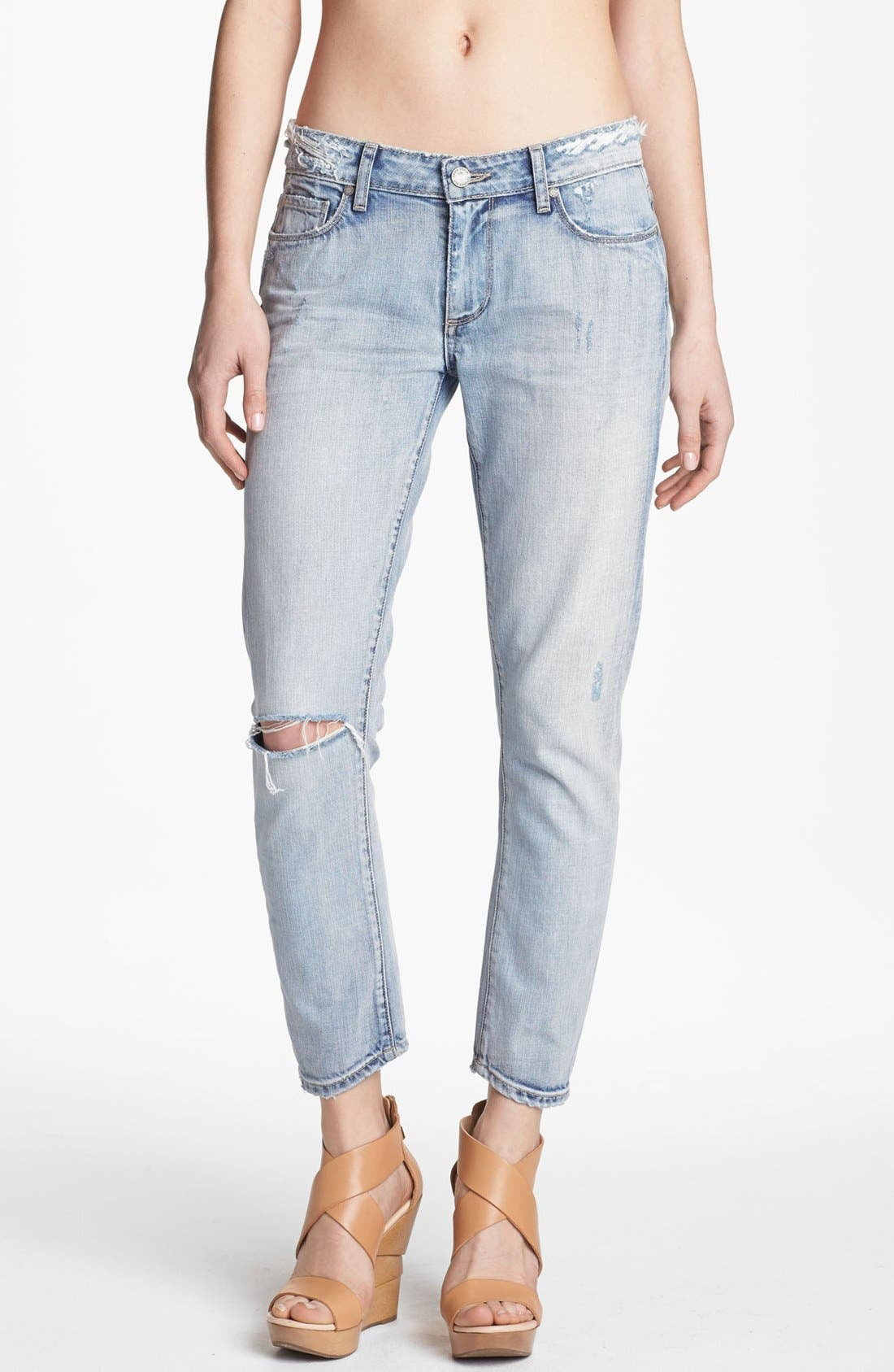 Alternate Image 1 Selected - Paige Denim 'Lydia' Crop Jeans (Pilot)