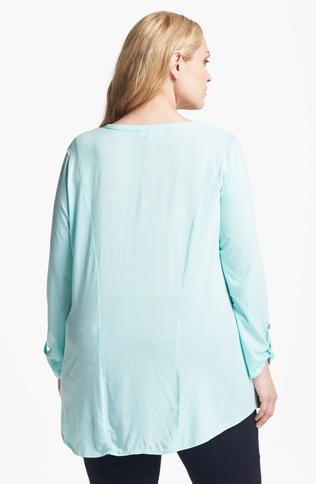 Alternate Image 2  - Two by Vince Camuto High/Low Henley (Plus Size)