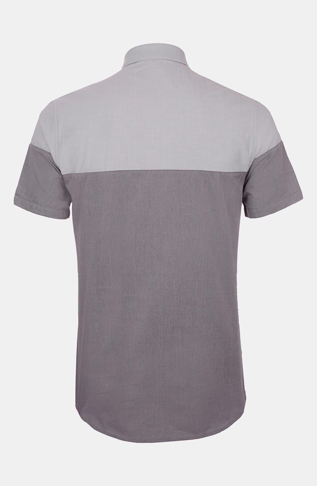 Alternate Image 2  - Topman Split Chambray Shirt