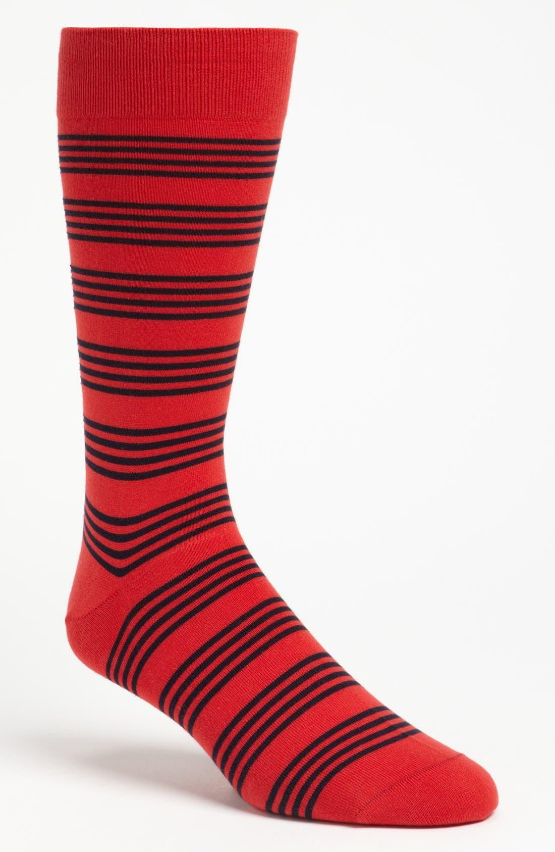 Alternate Image 1 Selected - Pantherella 'Bayham' Stripe Socks
