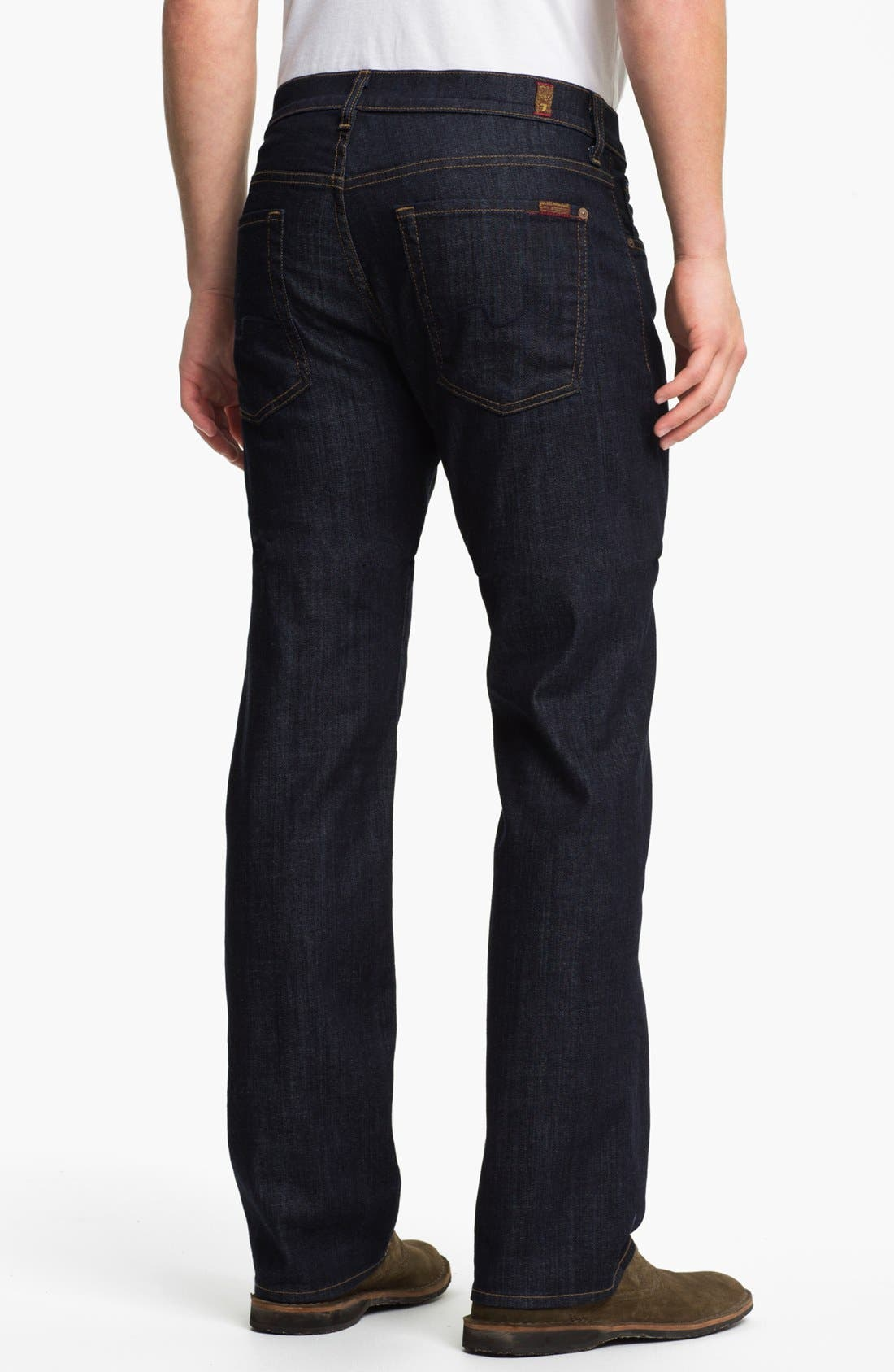 Alternate Image 2  - 7 For All Mankind® 'Austyn' Relaxed Straight Leg Jeans (Dark Clean)