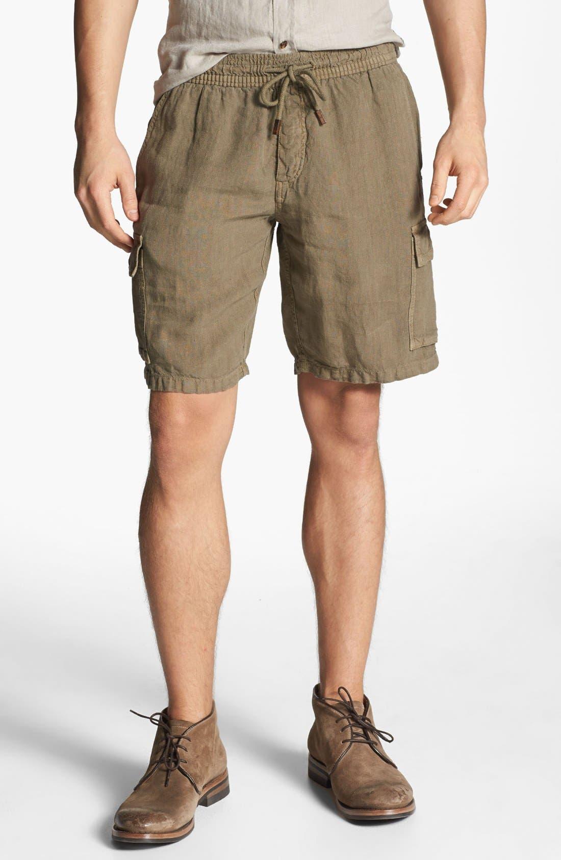 Main Image - Vilebrequin Linen Cargo Bermuda Shorts
