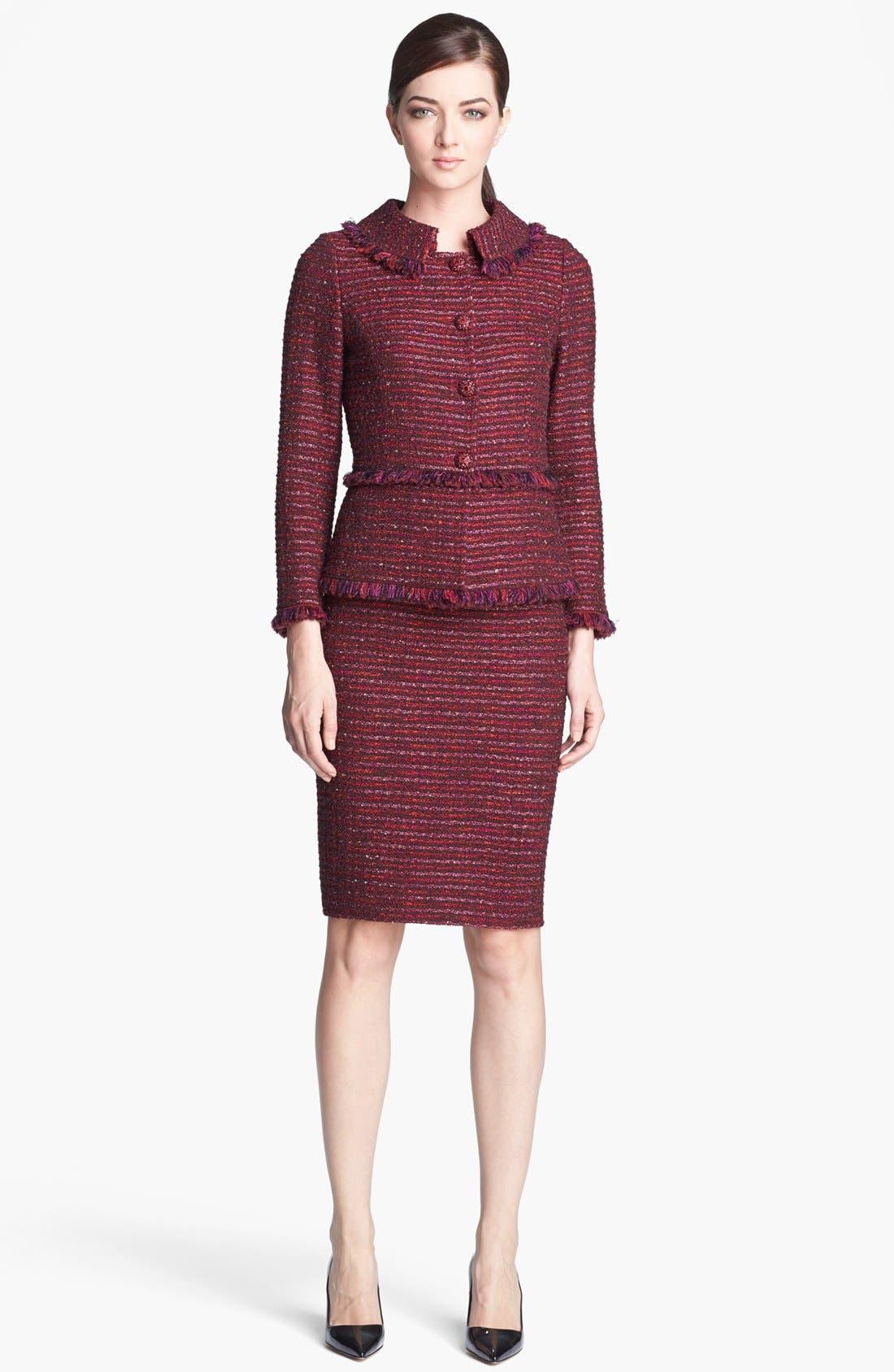Alternate Image 2  - St. John Collection Organza Ribbon Tweed Knit Pencil Skirt