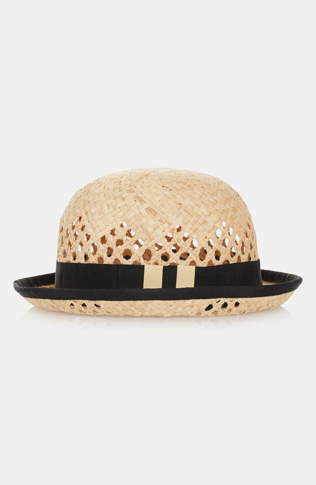 Alternate Image 1 Selected - Topshop Straw Bowler Hat