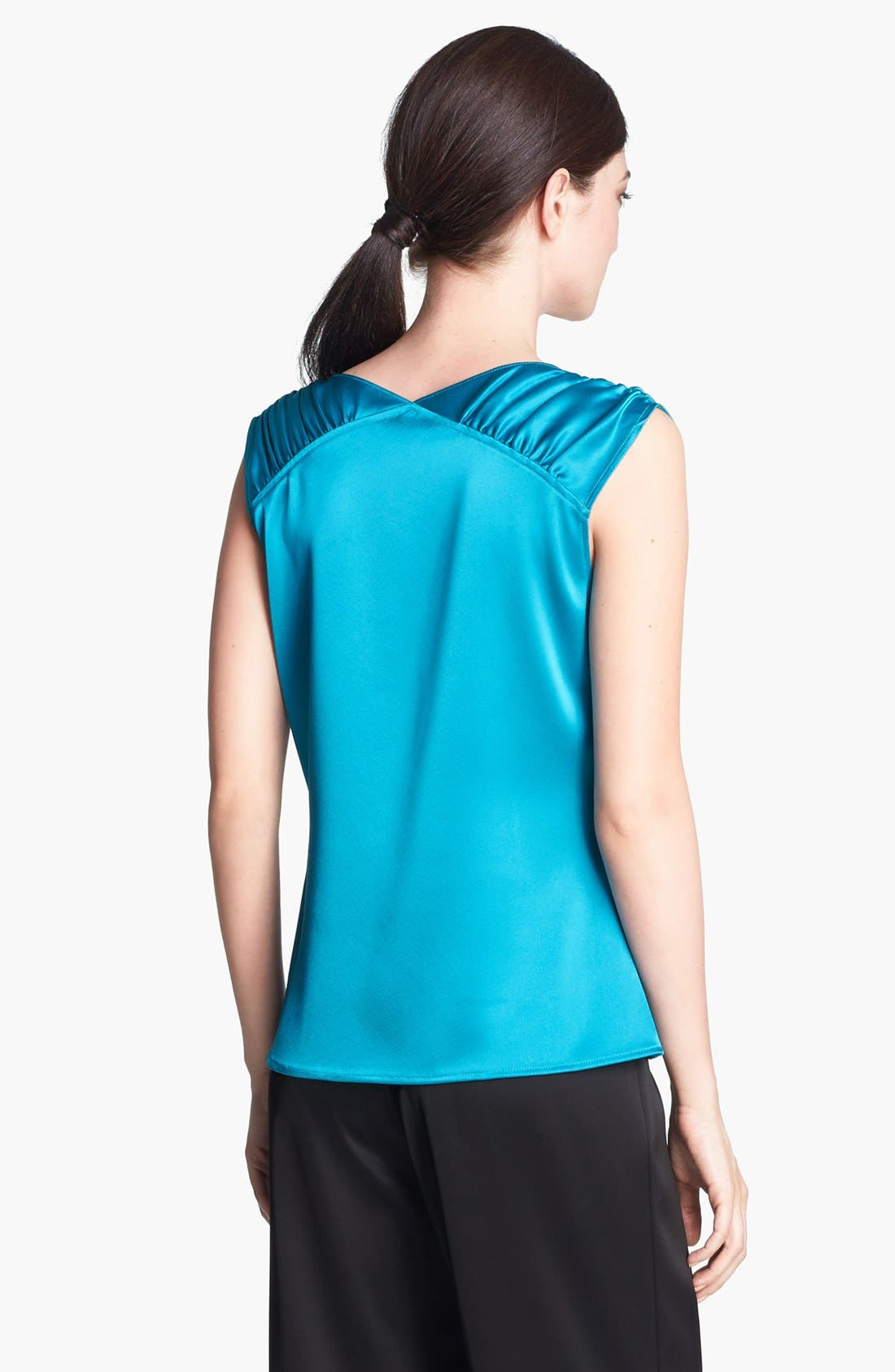 Alternate Image 4  - St. John Collection Cowl Neck Liquid Satin Top
