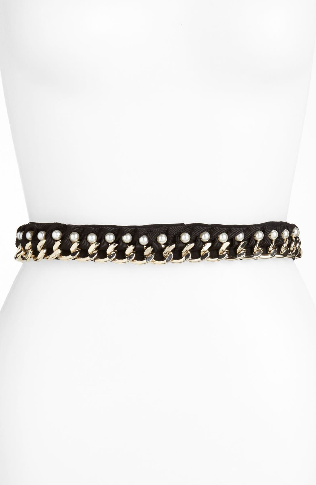 Alternate Image 1 Selected - St. John Collection Chain, Crepe & Grosgrain Belt
