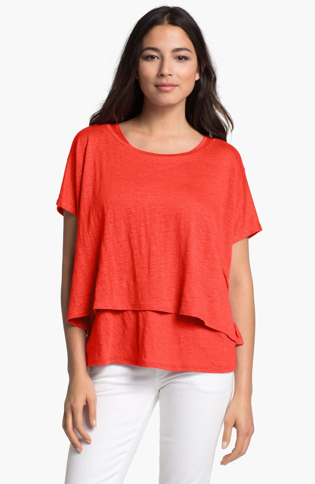 Main Image - Eileen Fisher Crop Poncho Top