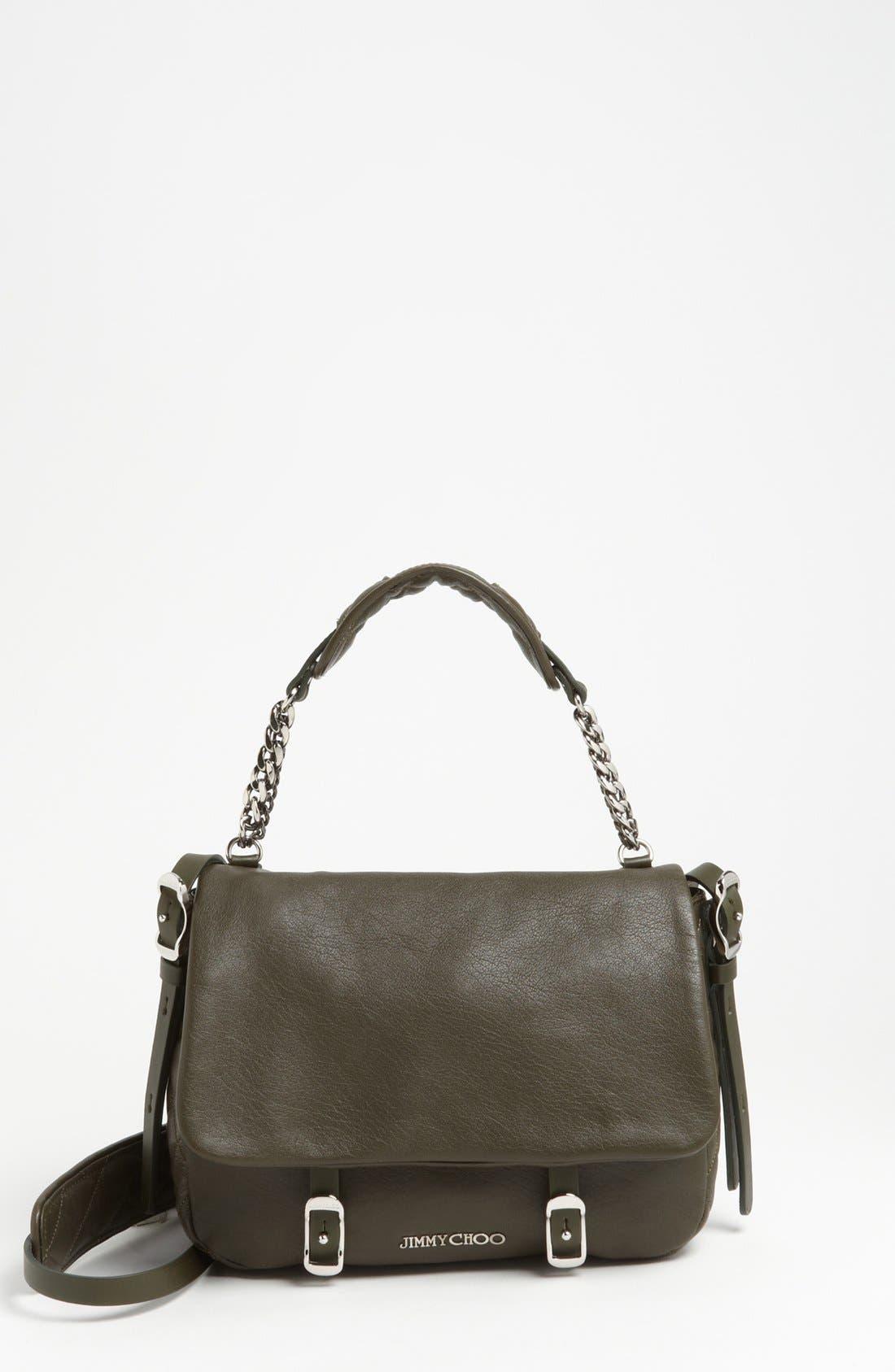 Alternate Image 1 Selected - Jimmy Choo 'Becka Biker - Small' Leather Crossbody Bag