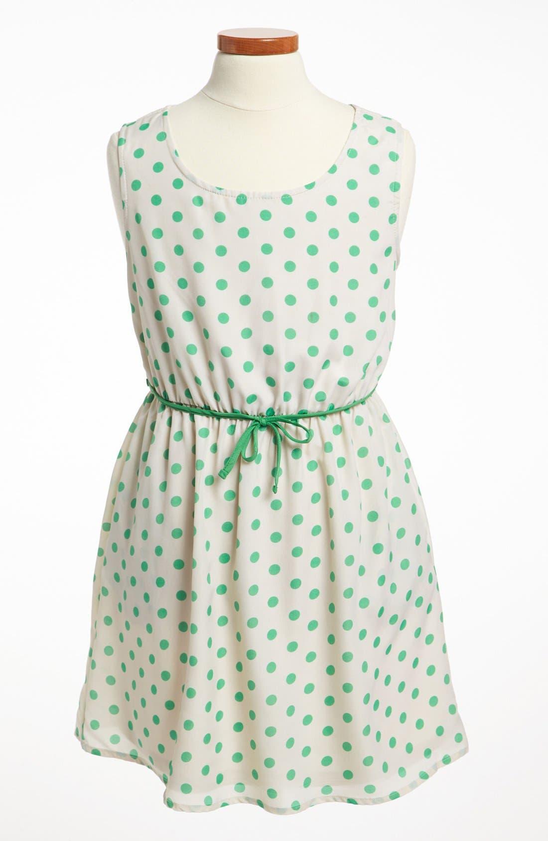 Alternate Image 1 Selected - Mia Chica Polka Dot Dress (Big Girls)