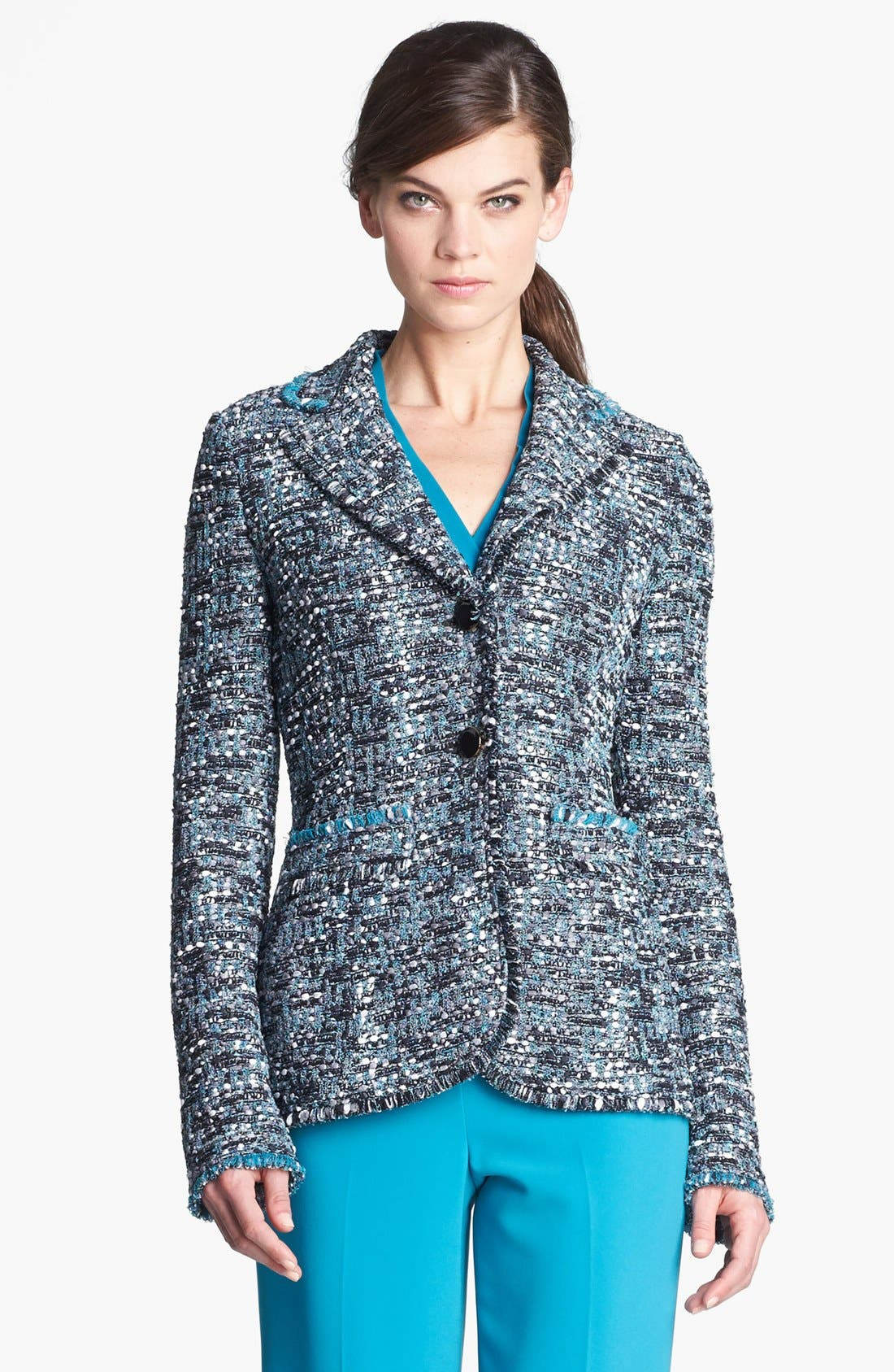 Main Image - St. John Collection Ribbon Tweed Knit Jacket