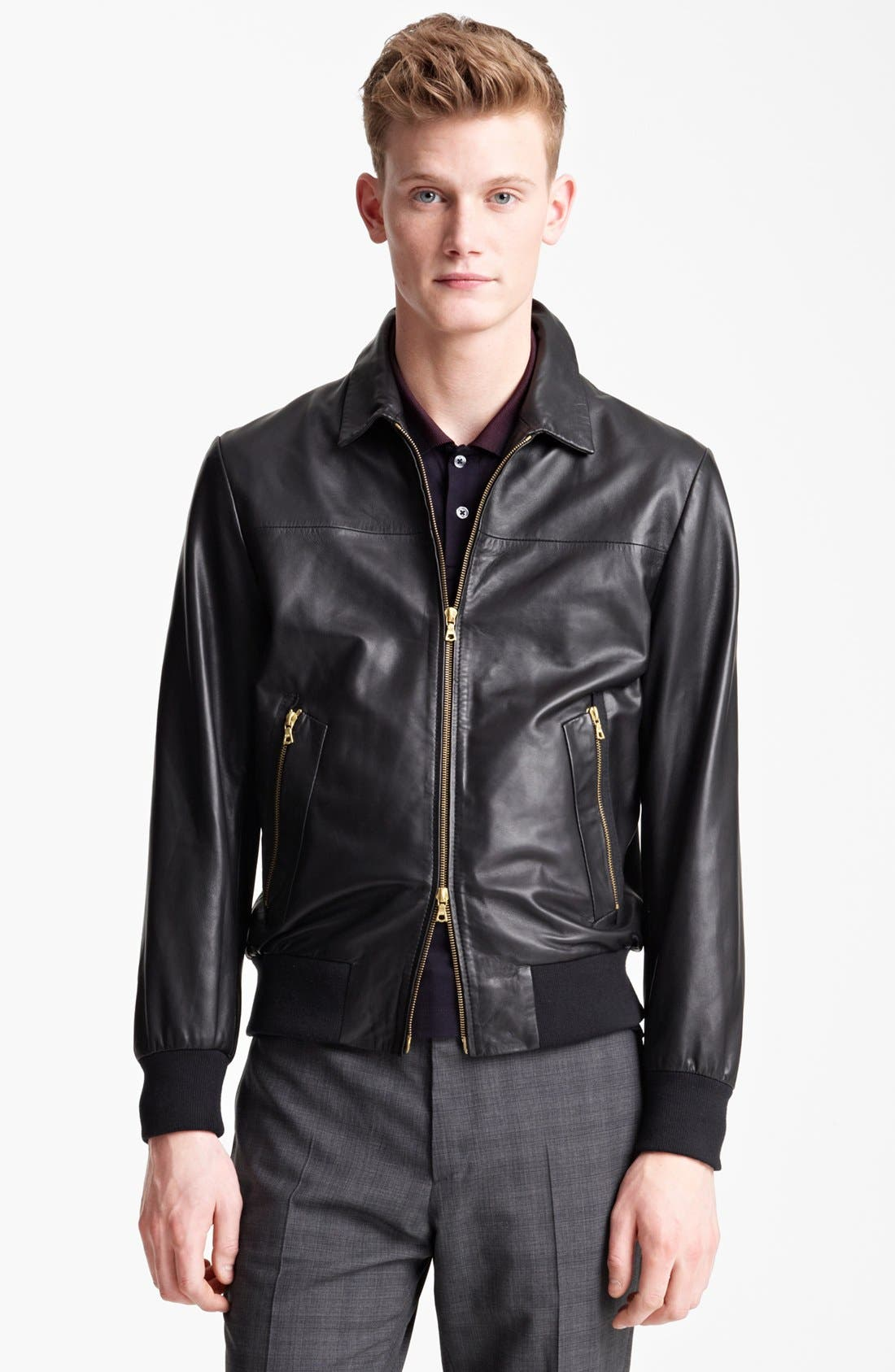 Alternate Image 1 Selected - PS Paul Smith Leather Jacket