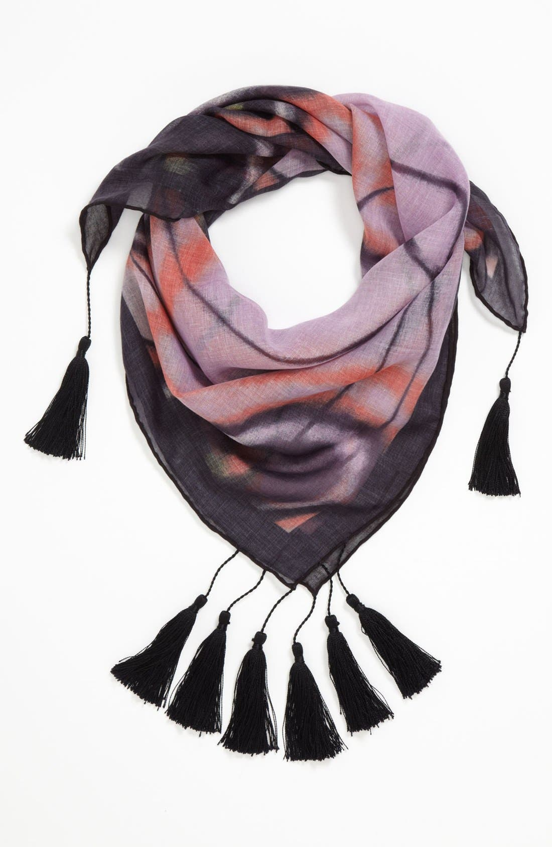Main Image - Hinge® 'Gossamer Wings' Tasseled Scarf