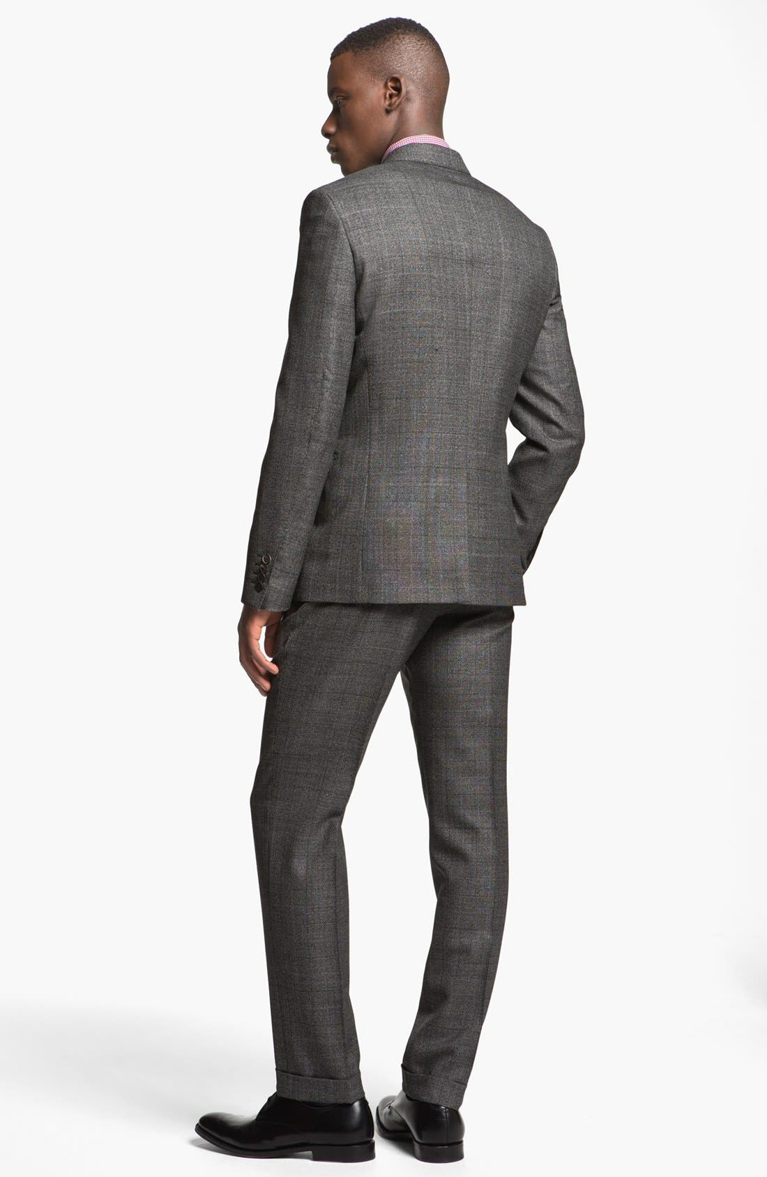 Alternate Image 3  - Paul Smith London Slim Fit Plaid Wool Suit