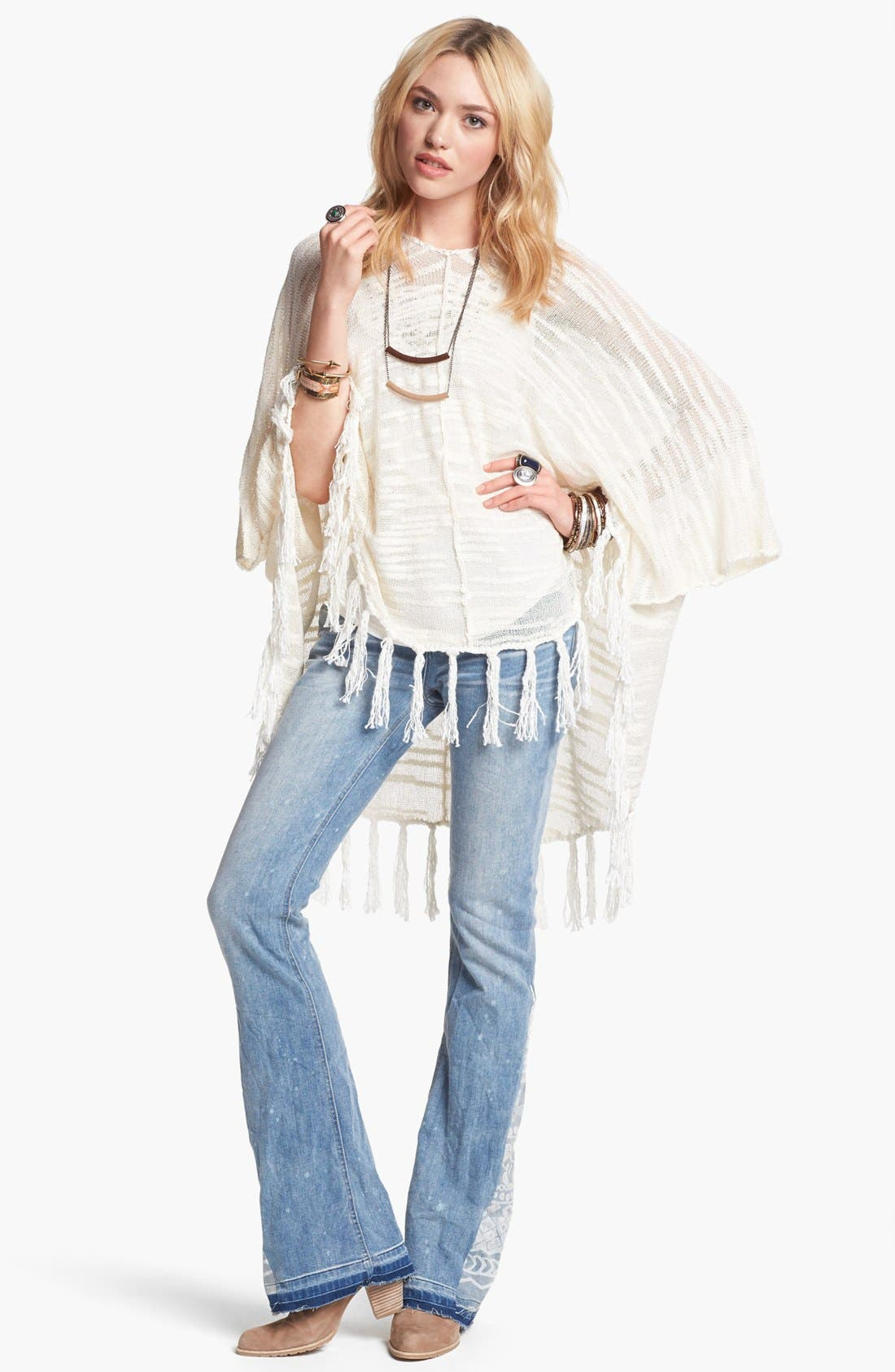 Alternate Image 1 Selected - Free People Poncho & Jeans