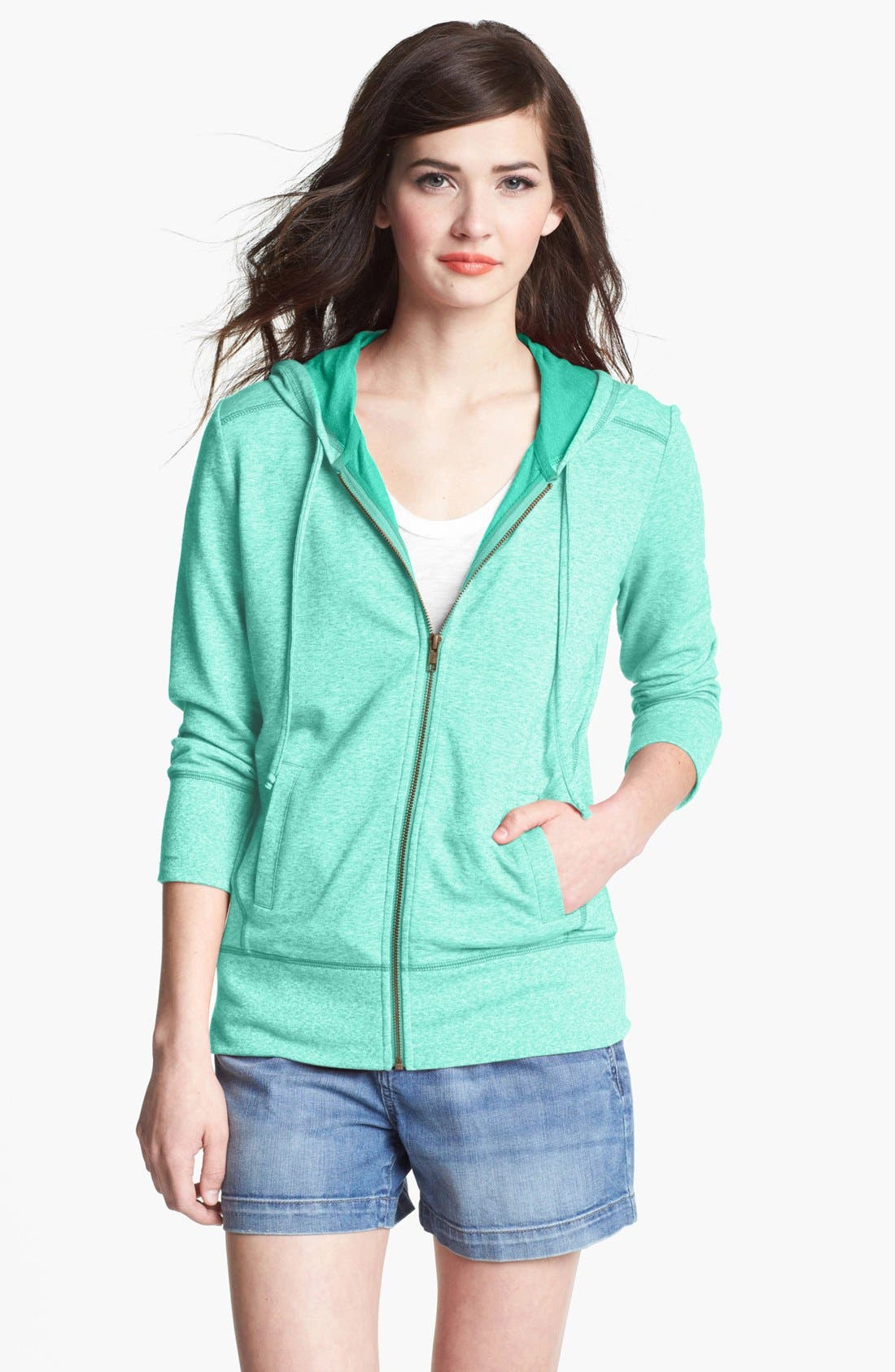 Alternate Image 1 Selected - Caslon® Three Quarter Sleeve Hoodie