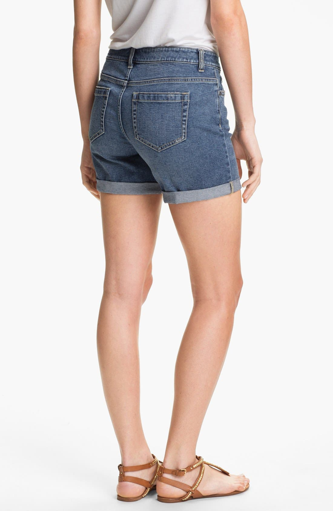 Alternate Image 2  - Two by Vince Camuto Distressed Denim Shorts