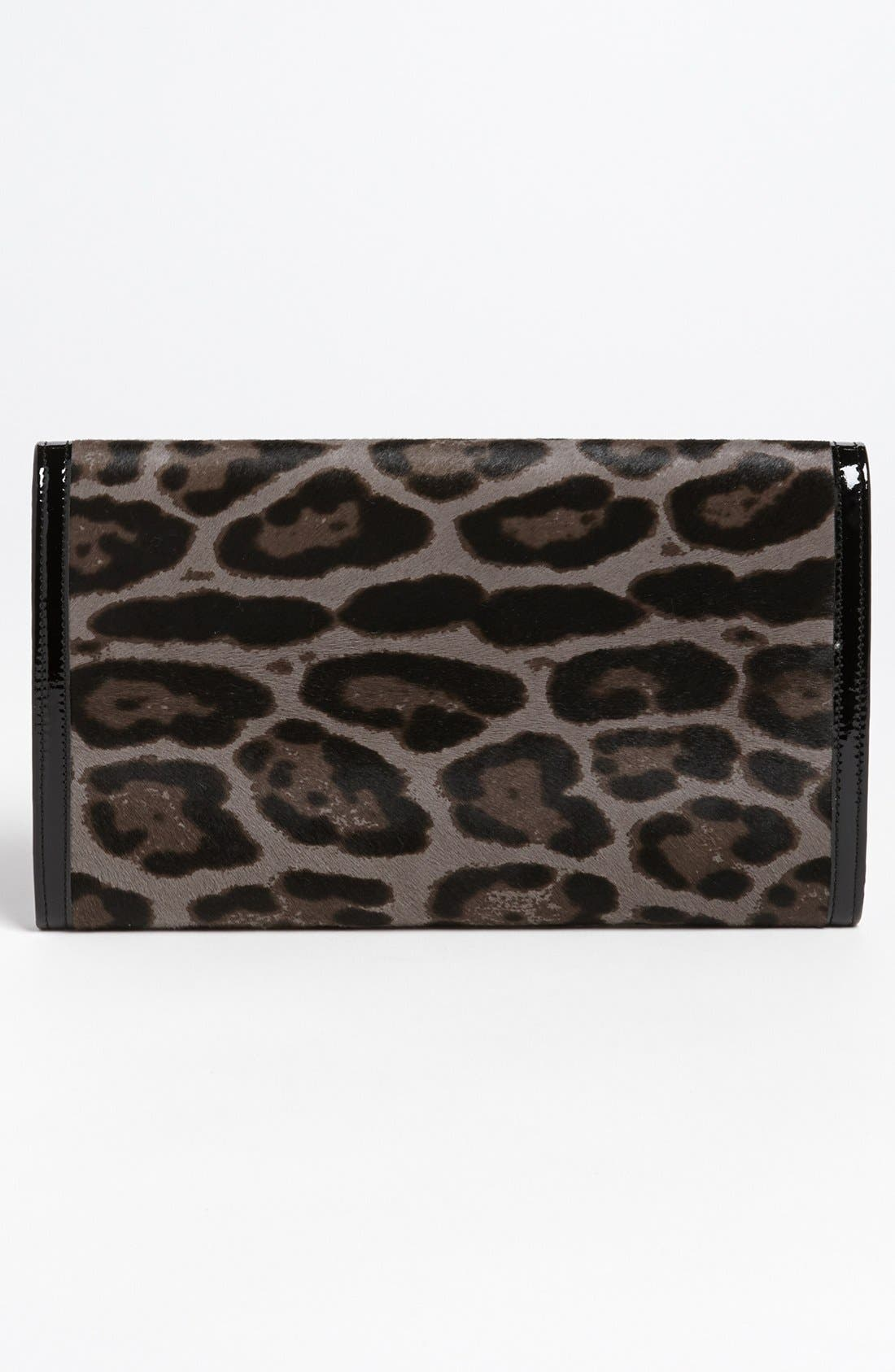 Alternate Image 4  - Jimmy Choo 'Reese - Extra Large' Leopard Print Calf Hair Clutch