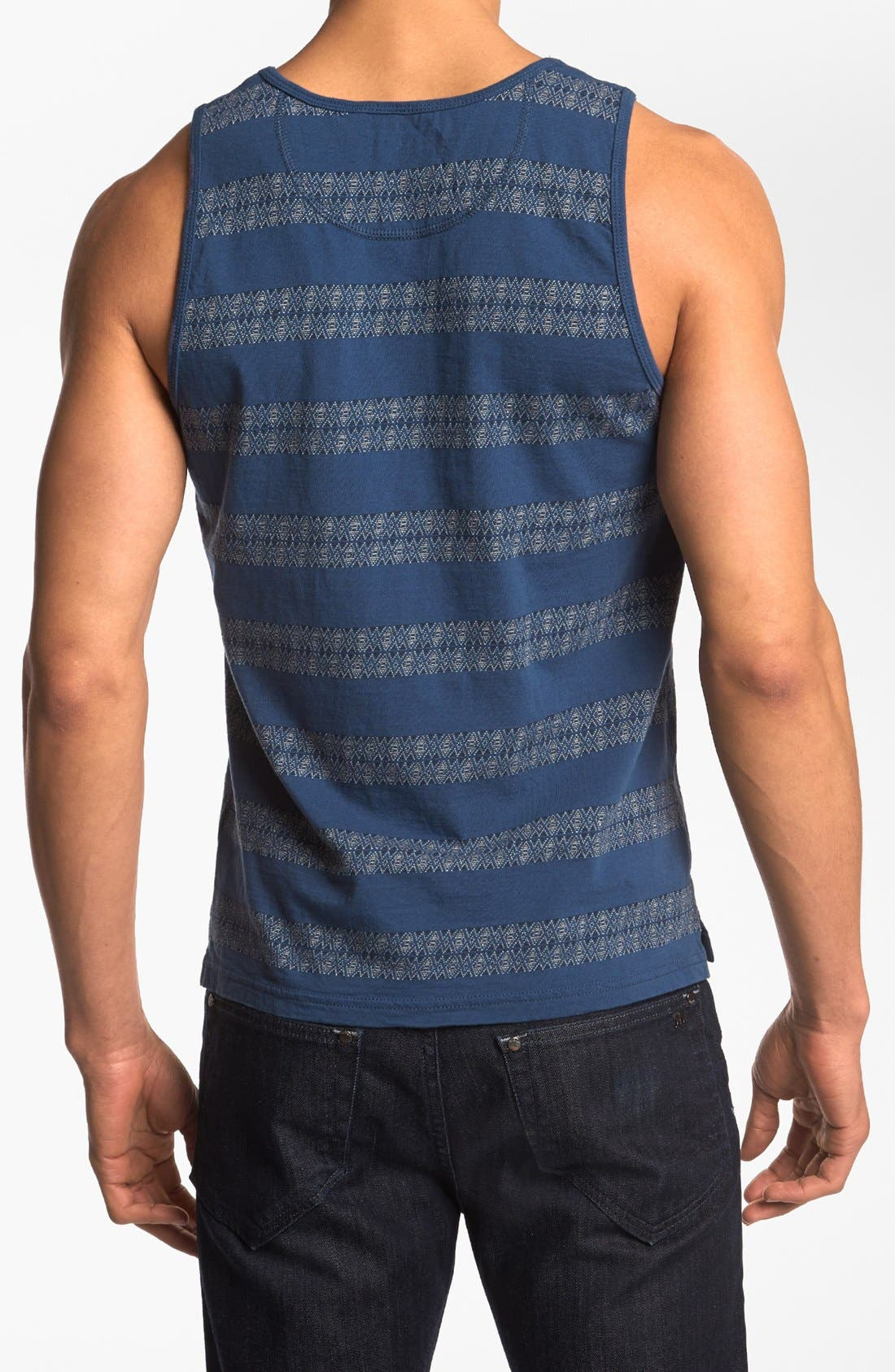Alternate Image 2  - Burkman Bros Jacquard Stripe Tank Top