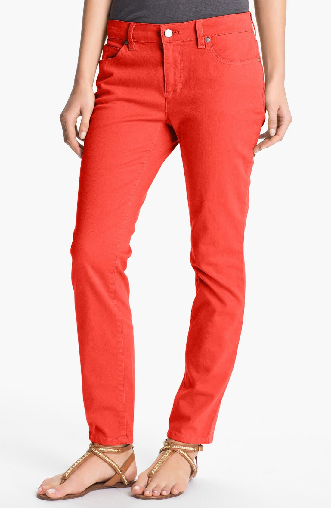Main Image - Eileen Fisher Skinny Ankle Jeans
