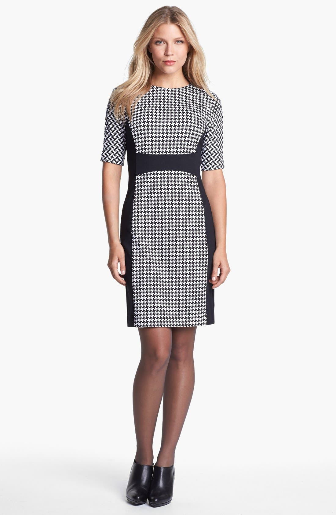 Main Image - MICHAEL Michael Kors Contrast Panel Crewneck Dress