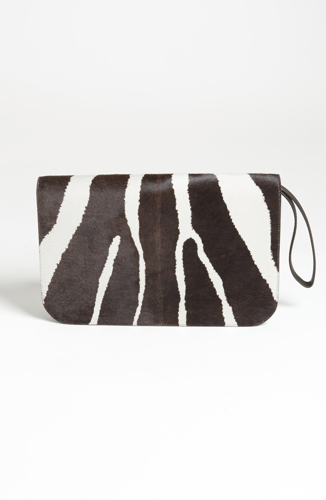 Alternate Image 4  - Fendi '2Jours - Large' Calf Hair & Leather Clutch