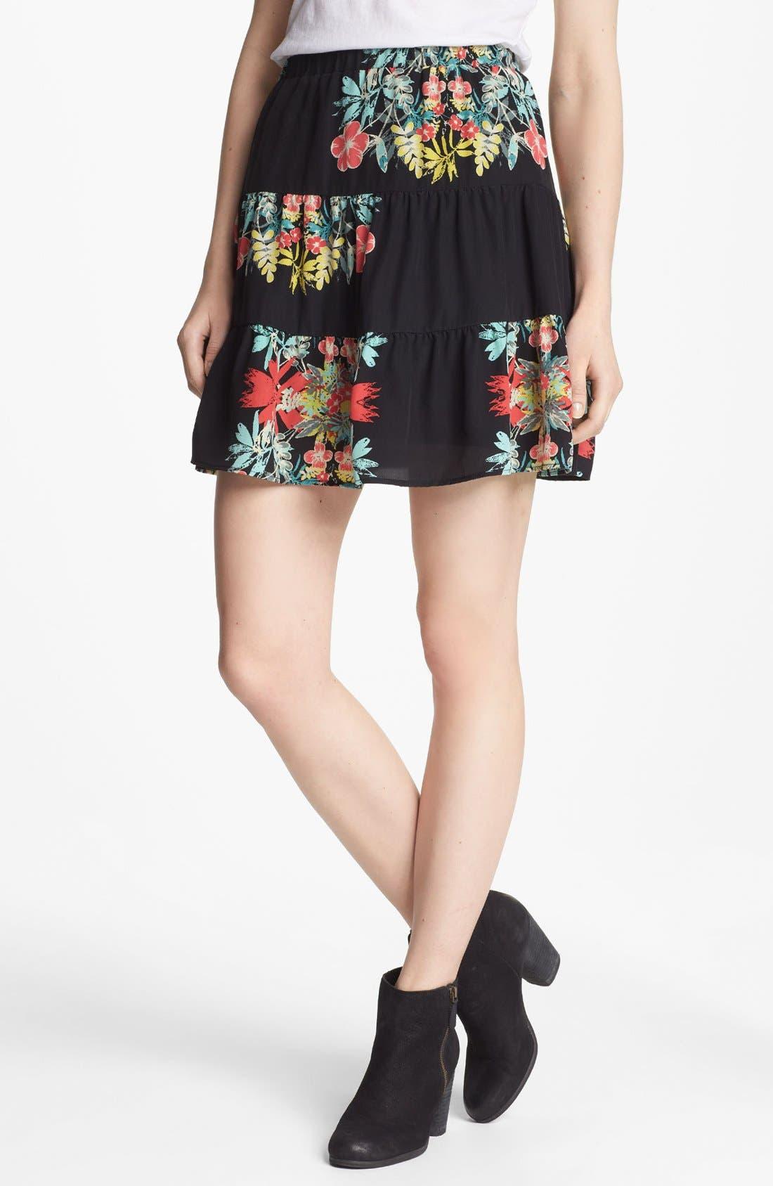 Main Image - Ella Moss 'Tropadelic' Silk Skirt