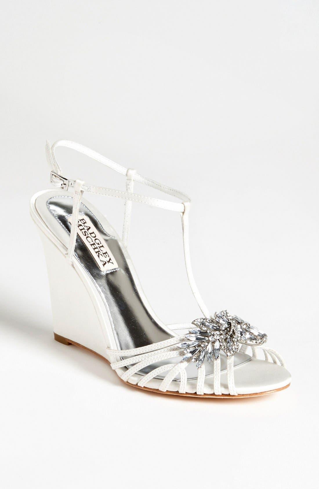 Alternate Image 1 Selected - Badgley Mischka 'Naomi' Wedge Sandal