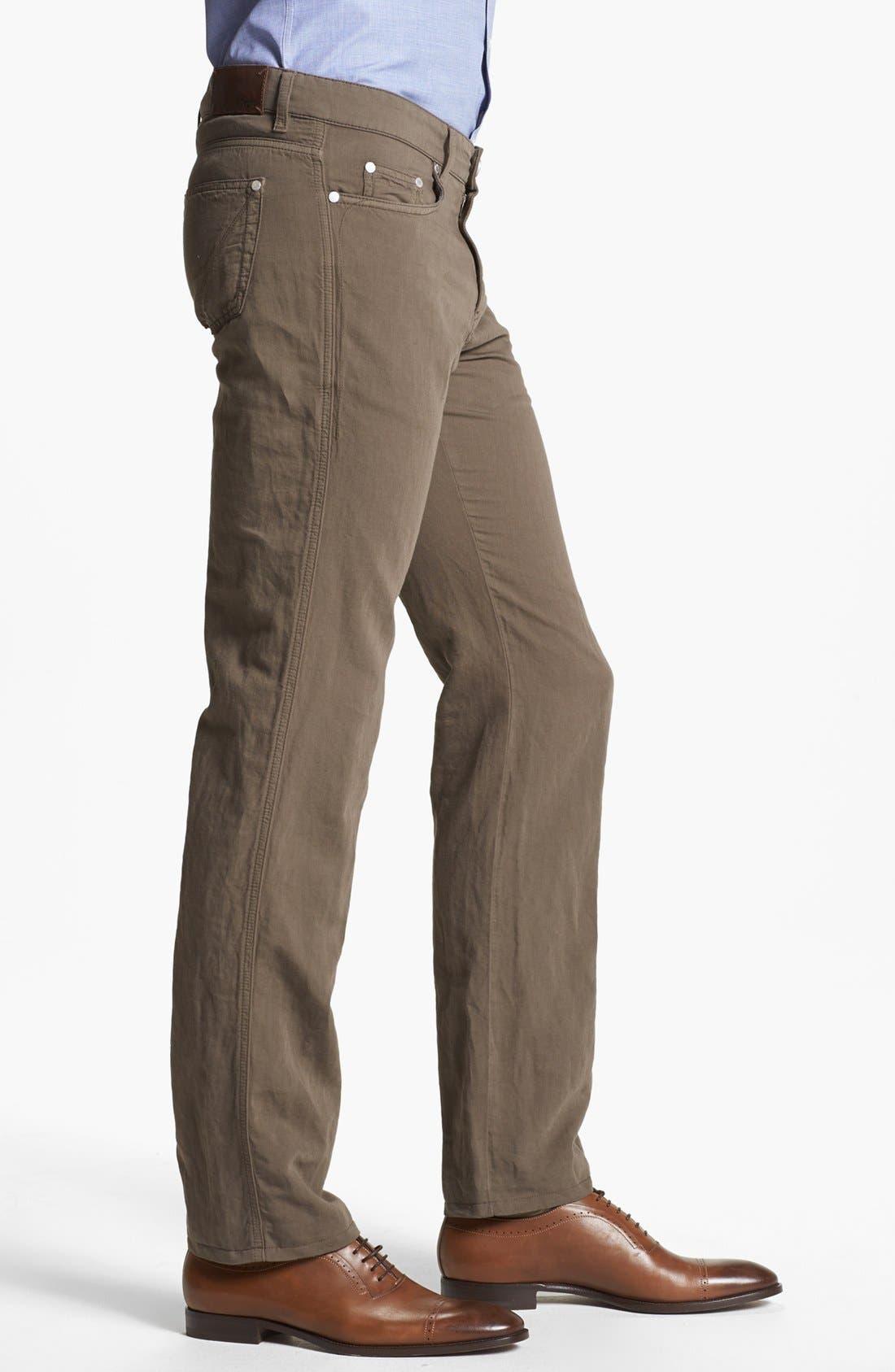 Alternate Image 3  - Z Zegna Slim Straight Leg Linen Blend Pants