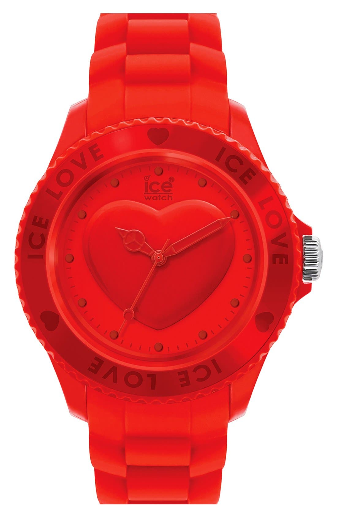 Alternate Image 1 Selected - ICE Watch 'Ice-Love' Silicone Bracelet Watch, 43 mm