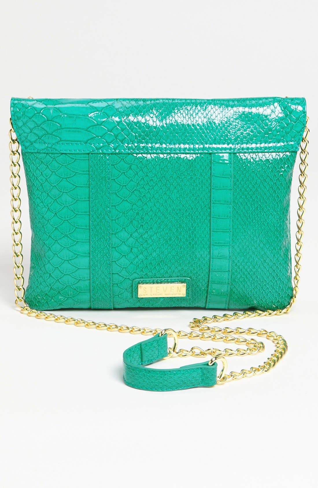 Alternate Image 4  - Steven by Steve Madden Snake Embossed Faux Leather Crossbody Clutch