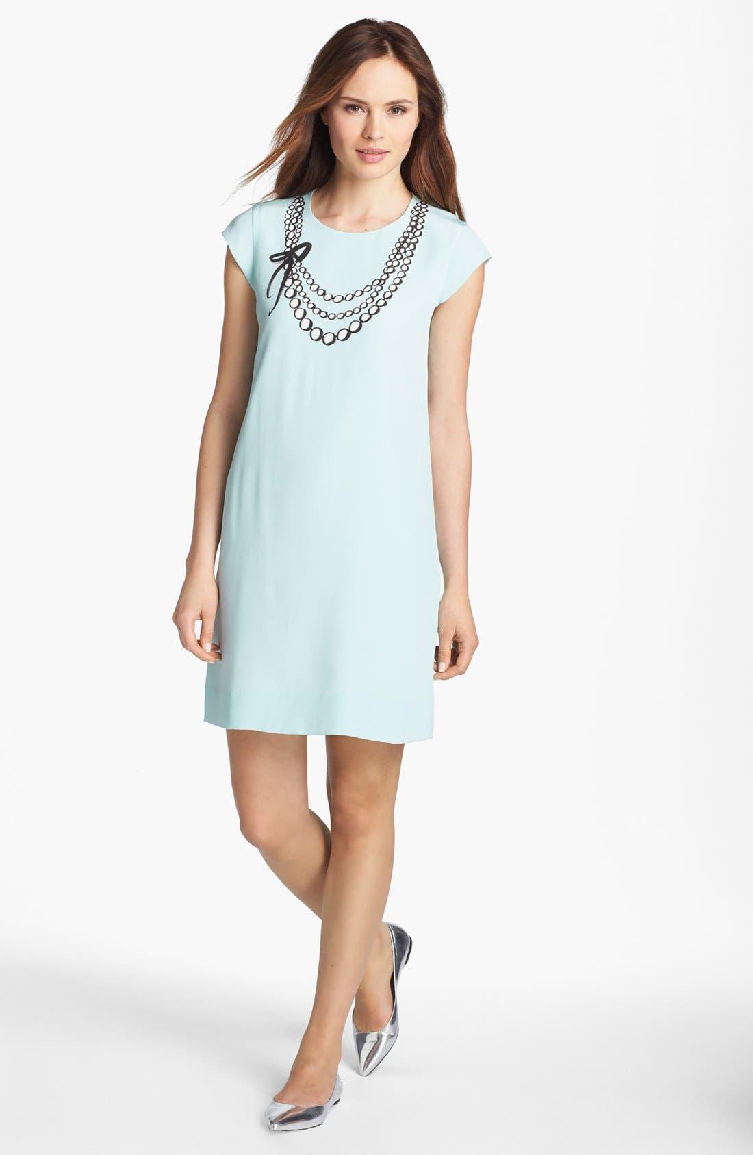 Main Image - kate spade new york 'karine' silk shift dress