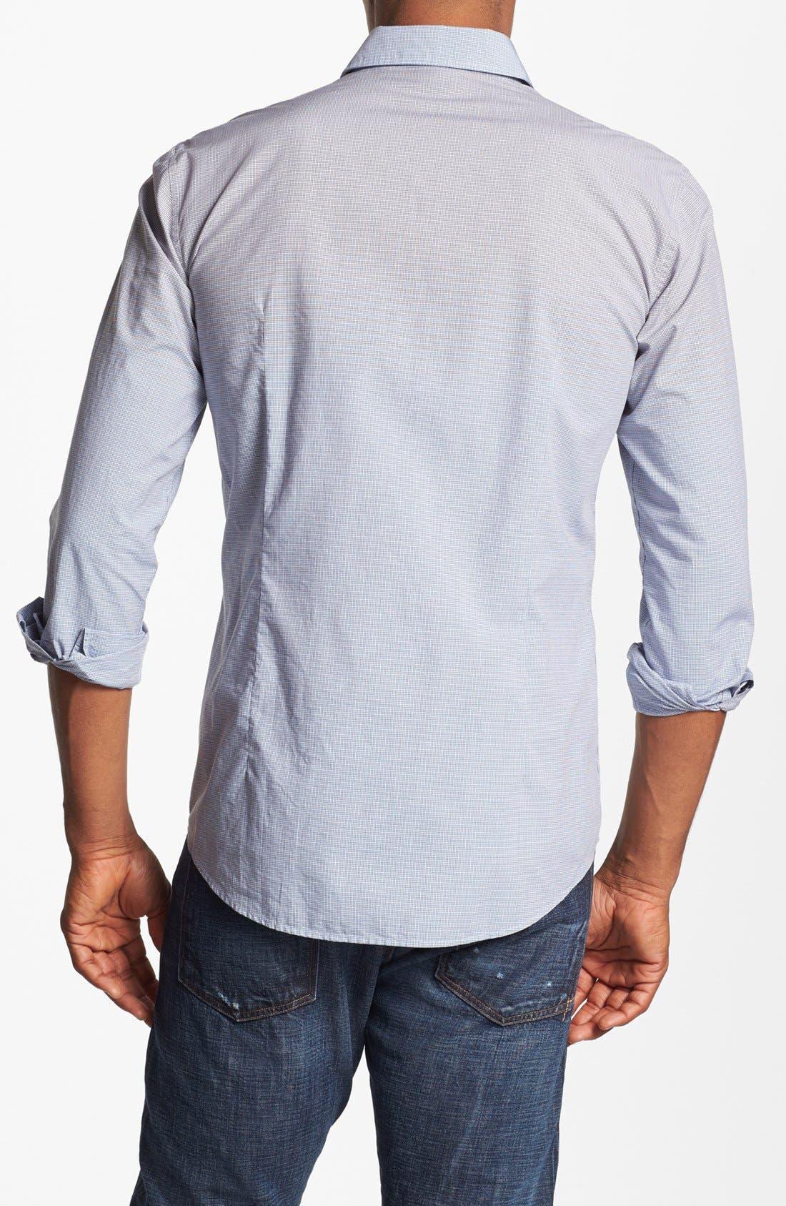 Alternate Image 2  - BOSS HUGO BOSS 'Ronny' Slim Fit Ombré Check Sport Shirt