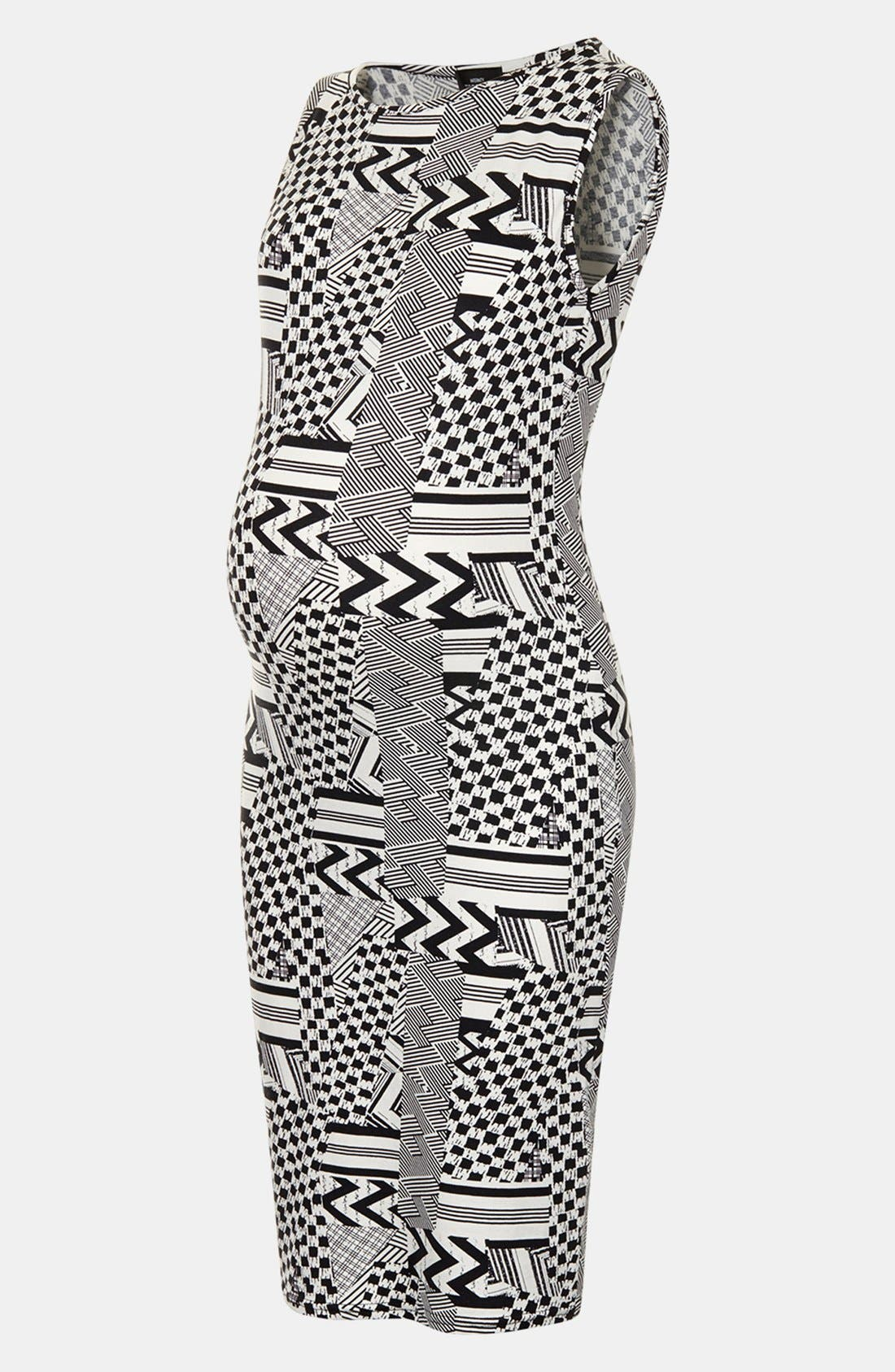 Alternate Image 3  - Topshop Jigsaw Body-Con Maternity Dress