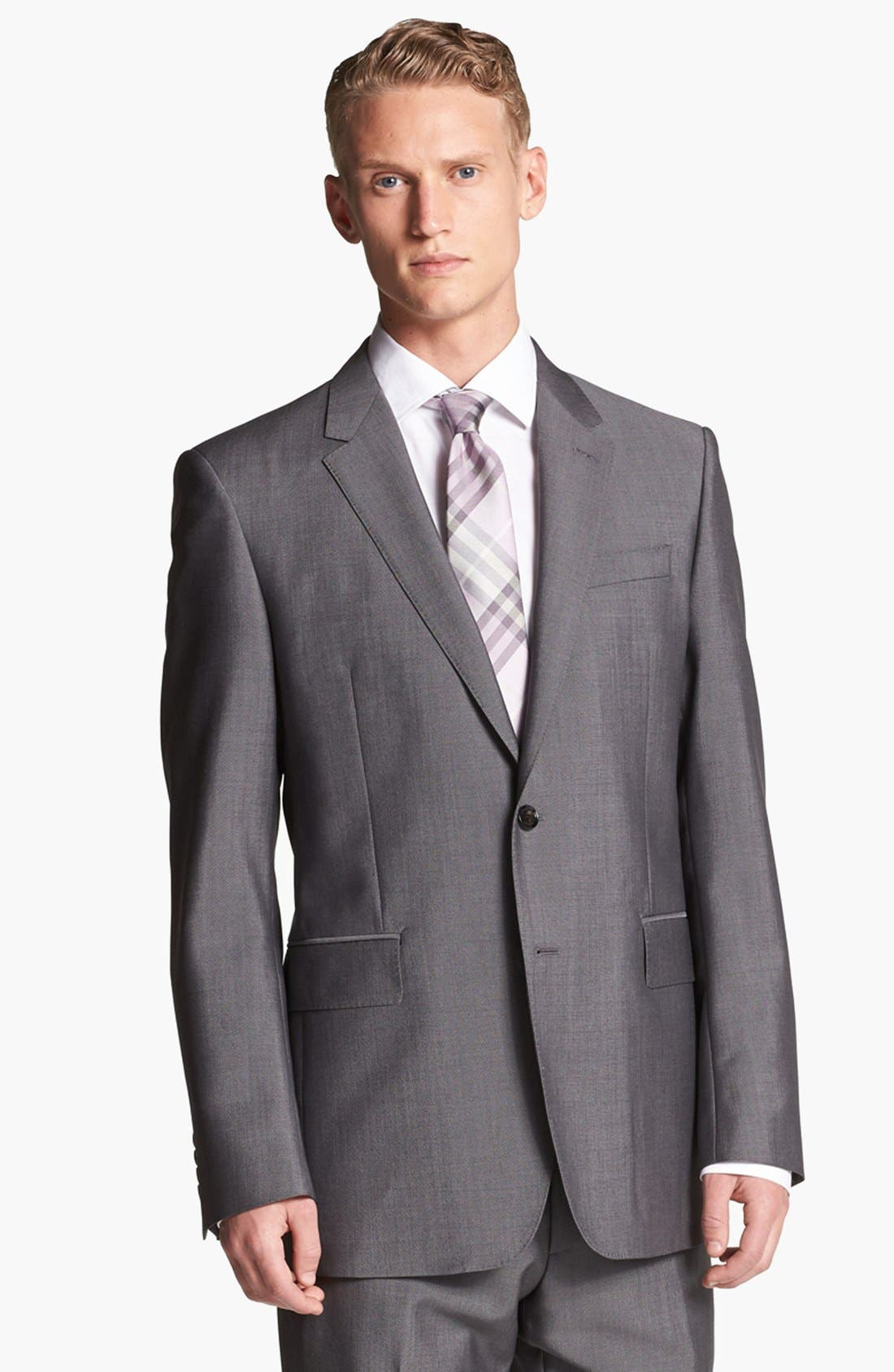 Alternate Image 4  - Burberry London Trim Fit Grey Wool & Mohair Suit