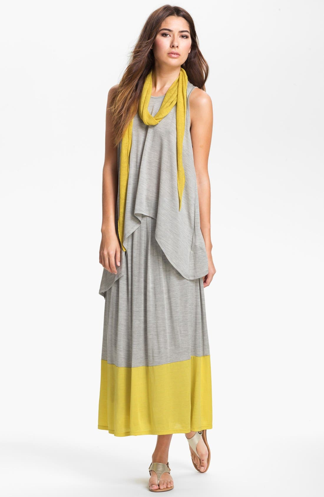 Alternate Image 4  - Eileen Fisher Pleated Colorblock Midi Skirt (Plus Size)