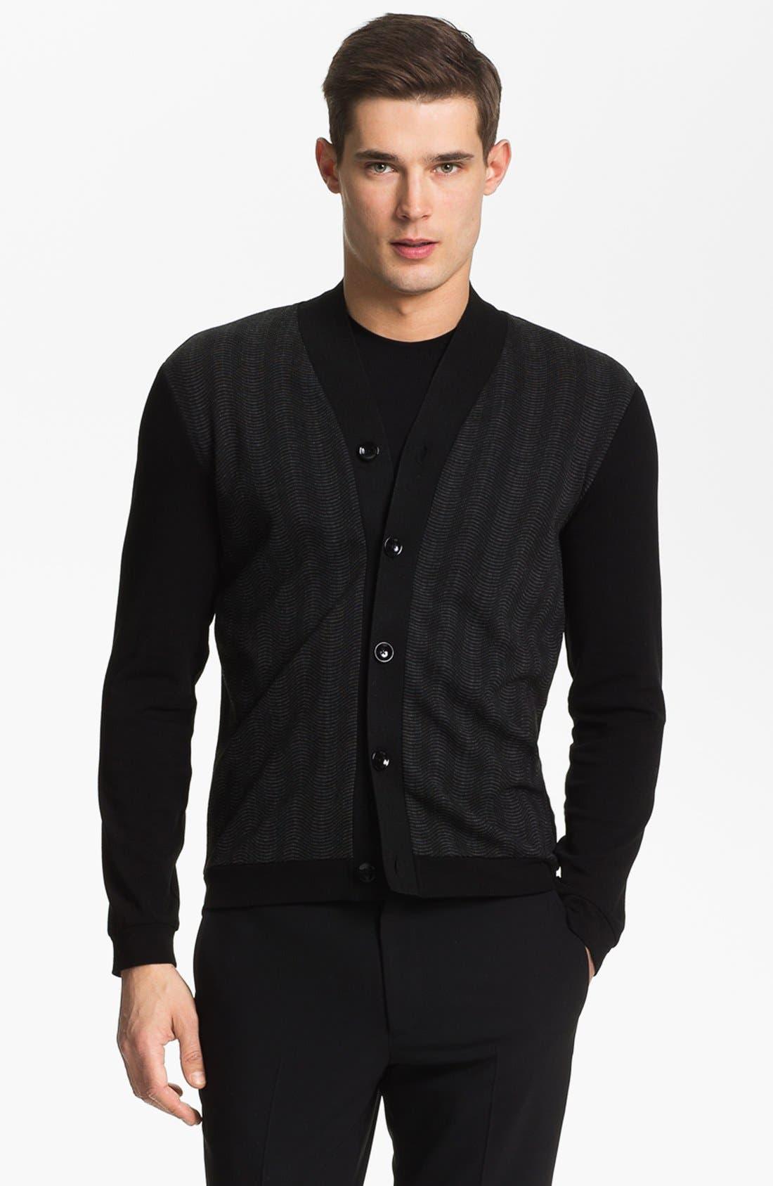 Main Image - Armani Collezioni Jersey Knit Cardigan