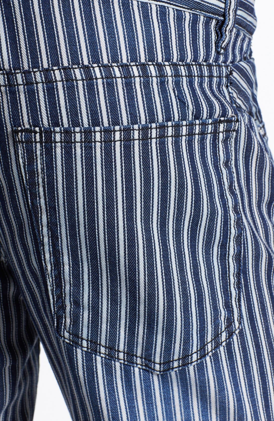 Alternate Image 4  - Williamsburg Garment Company 'Grand Street' Slim Fit Jeans (Engineer Stripe)