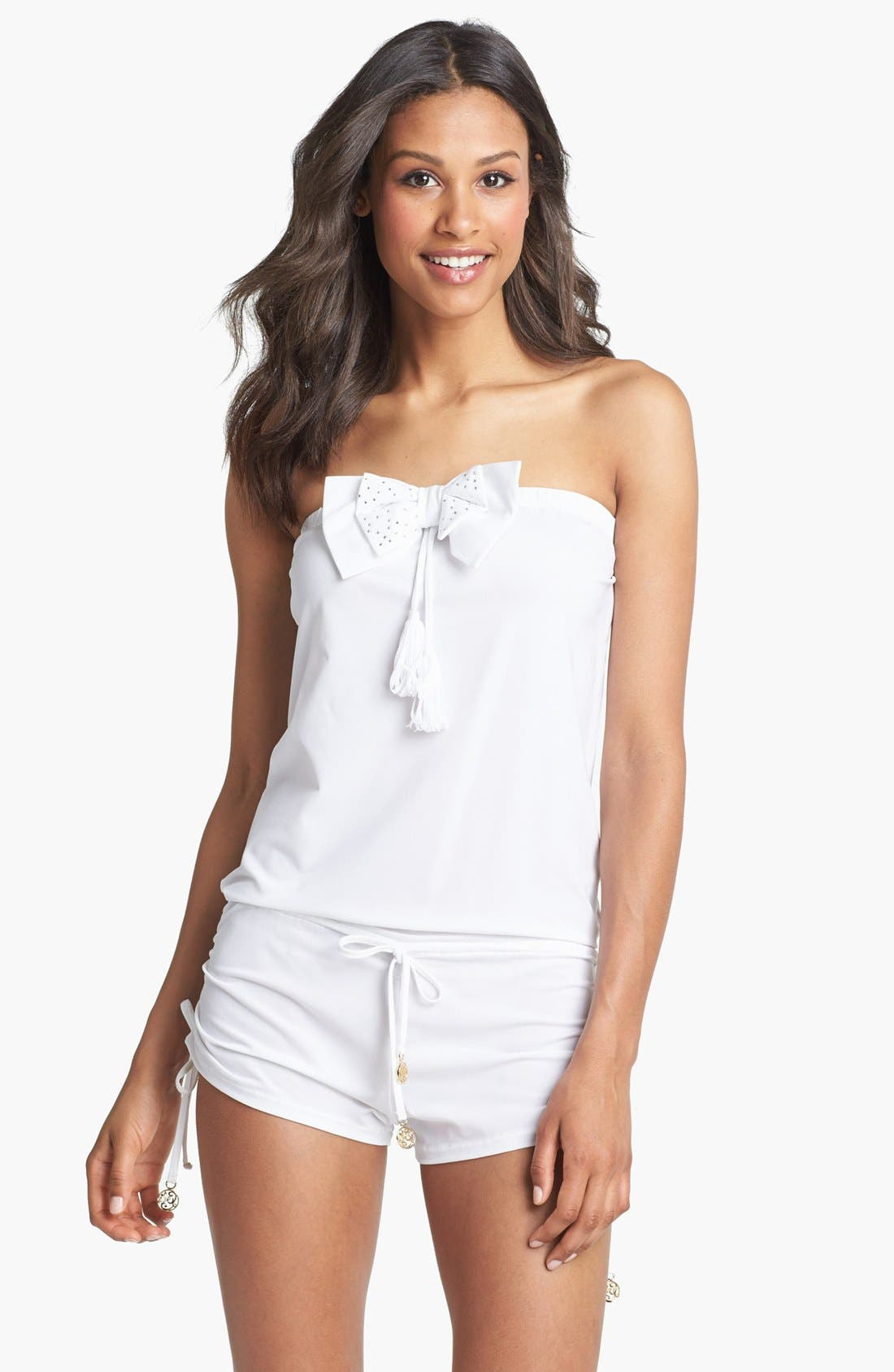Alternate Image 1 Selected - Luli Fama 'Lazos' Romper Cover-Up