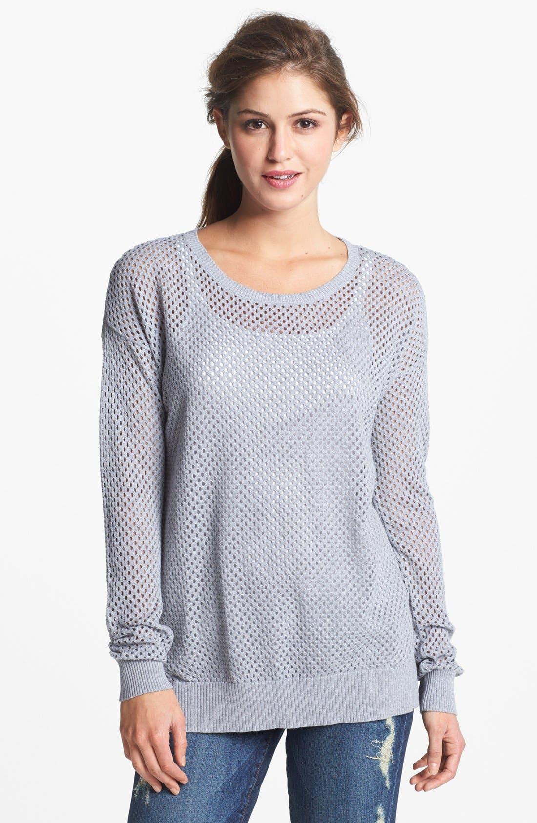 Alternate Image 1 Selected - Two by Vince Camuto Open Knit Sweater