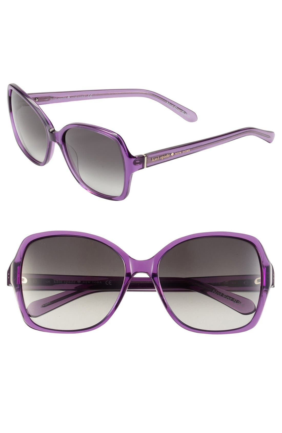 Main Image - kate spade new york 'cambria' 56mm sunglasses