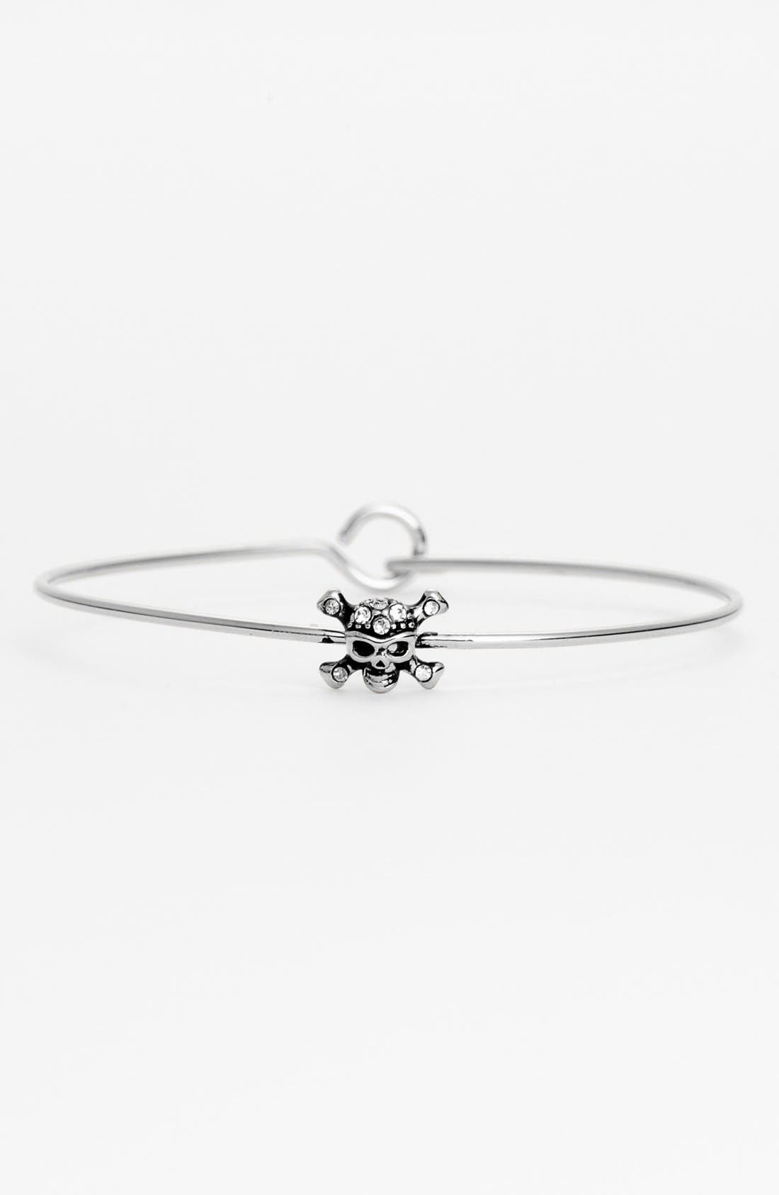 Alternate Image 1 Selected - Ariella Collection Skull Station Bangle Bracelet (Nordstrom Exclusive)